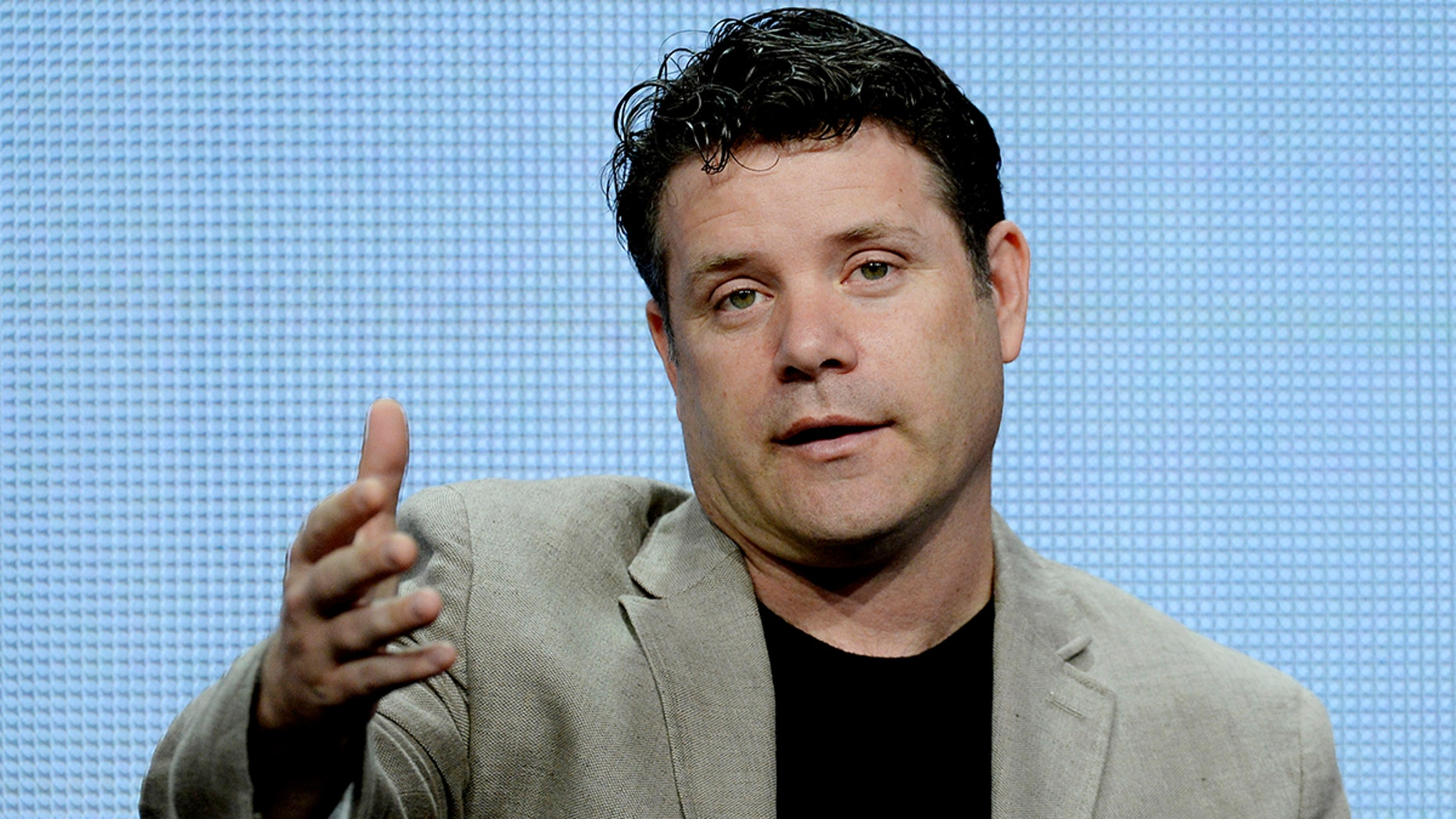 """Cast member Sean Astin of the new drama series """"The Strain"""" participates in a panel discussion during FX Networks' portion of the 2014 Television Critics Association Cable Summer Press Tour in Beverly Hills, California July 21, 2014. REUTERS/Kevork Djansezian  (UNITED STATES - Tags: ENTERTAINMENT) - GM1EA7M0PCO01"""