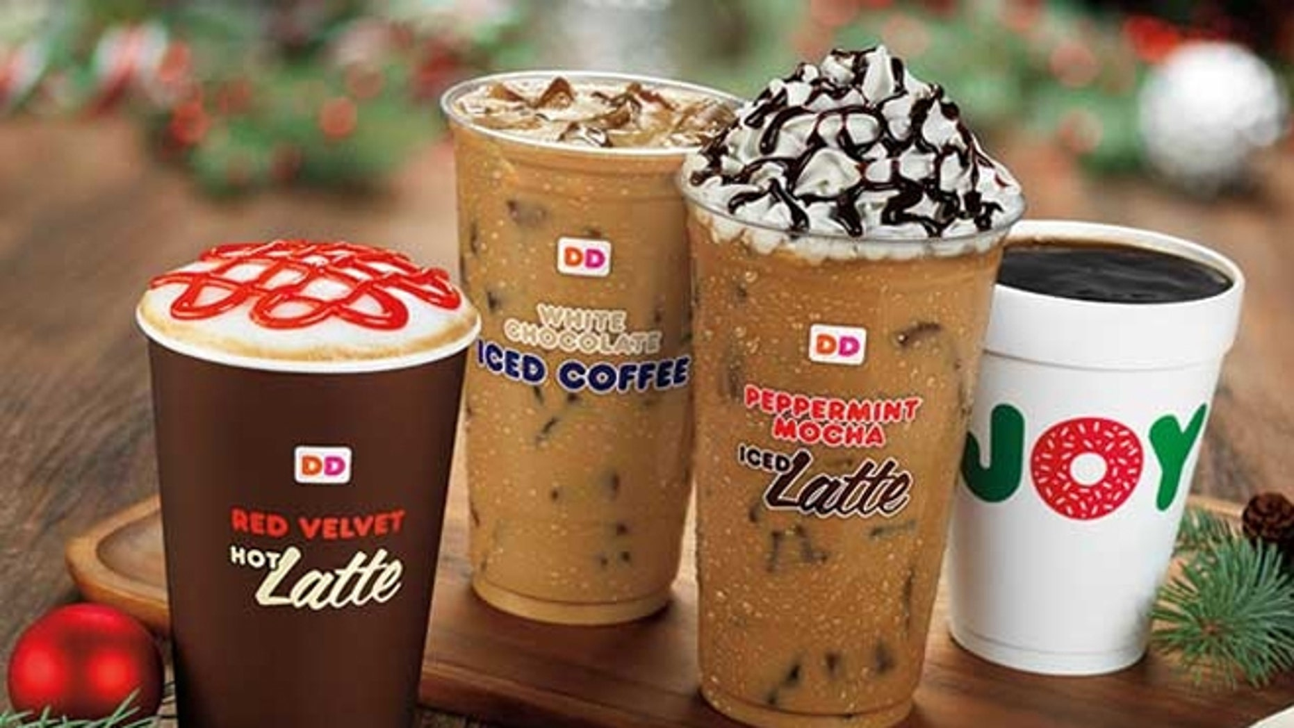 Dunkin' Donuts will release two new seasonal drinks: Red Velvet Latte and Salted Caramel Hot Chocolate.