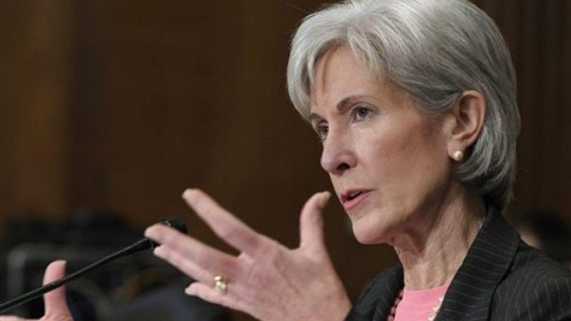 Health and Human Services Secretary Kathleen Sebelius testifies on Capitol Hill Feb. 3. (AP Photo)