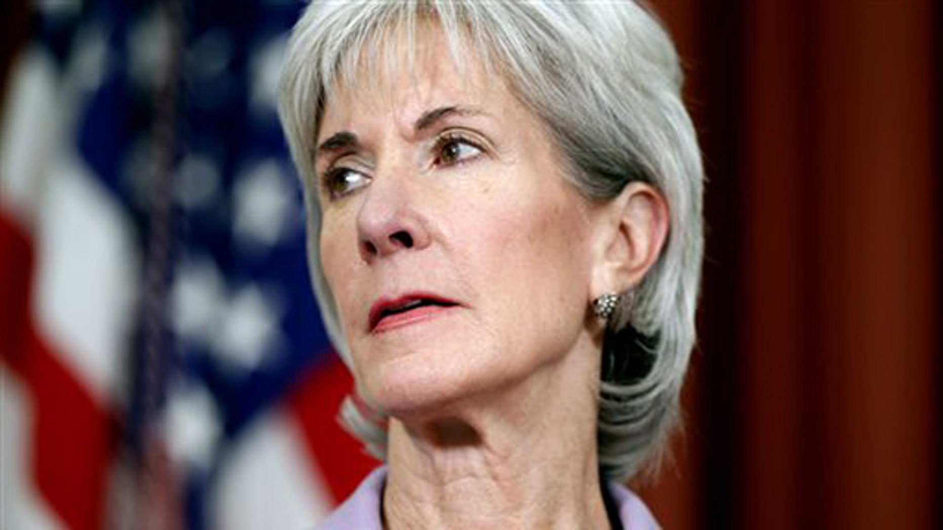 FILE: Oct. 31, 2011: Health and Human Services Secretary Kathleen Sebelius is seen in the Oval Office at the White House.