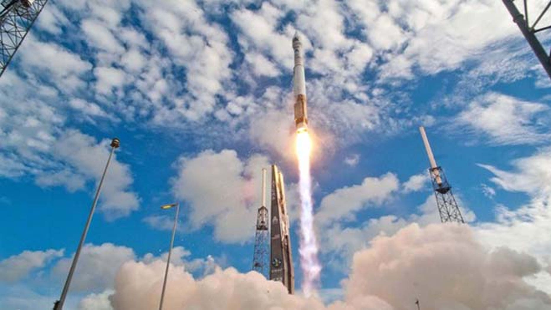 A United Launch Alliance Atlas 5 rocket launches the classified NROL-38 spy satellite into orbit from Space Launch Complex-41 at the Cape Canaveral Air Force Station in Florida on June 20, 2012.