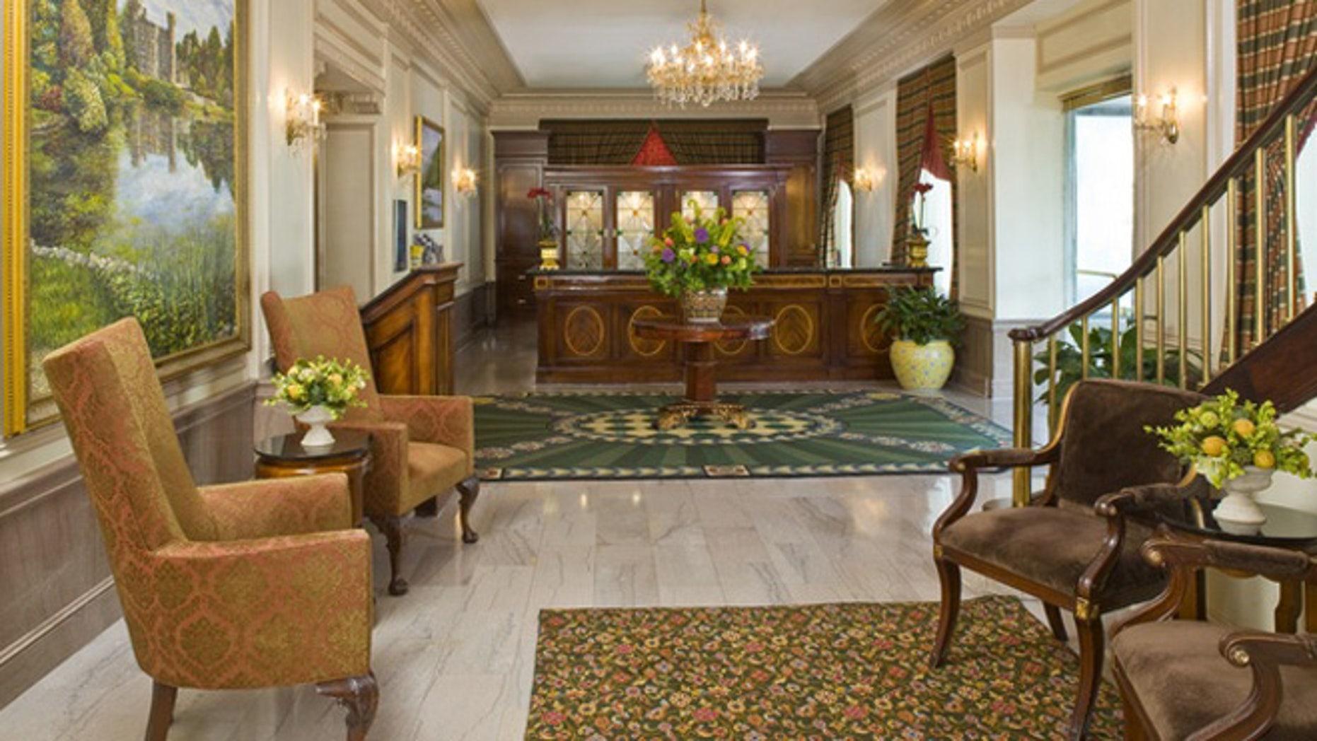 The lobby at the Phoenix Park Hotel.