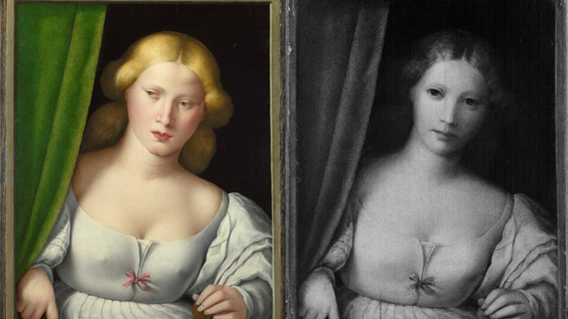 A provocative Renaissance painting from around 1520 was dramatically altered in the 19th century to satisfy more restrained Victorian tastes. The girl's hair was changed from blond to brunette, her expression made more innocent and her bodice rendered less revealing. Now science has helped uncover the original work.