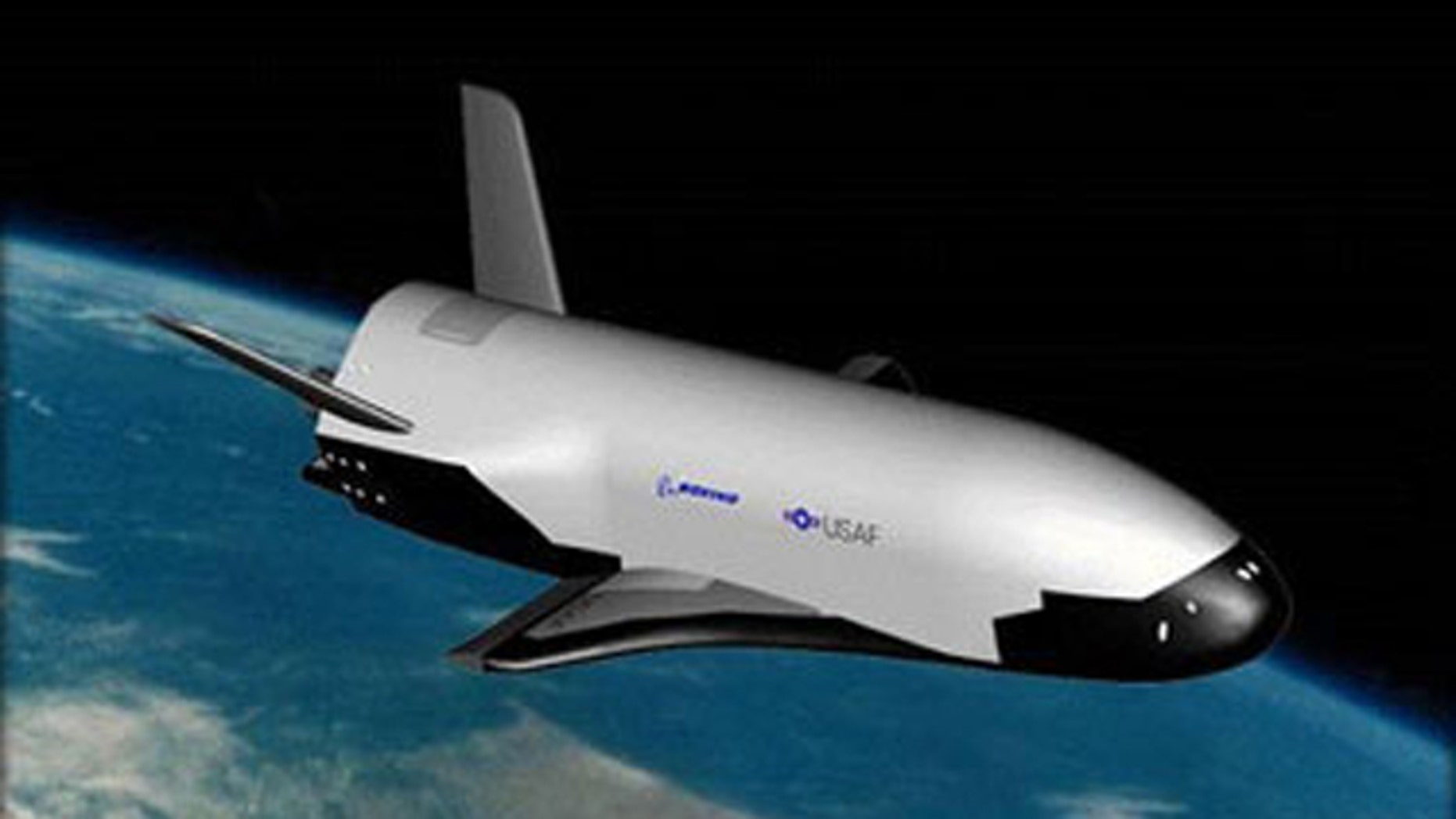 An artist's rendition of the Air Force's X-37B unmanned space plane.