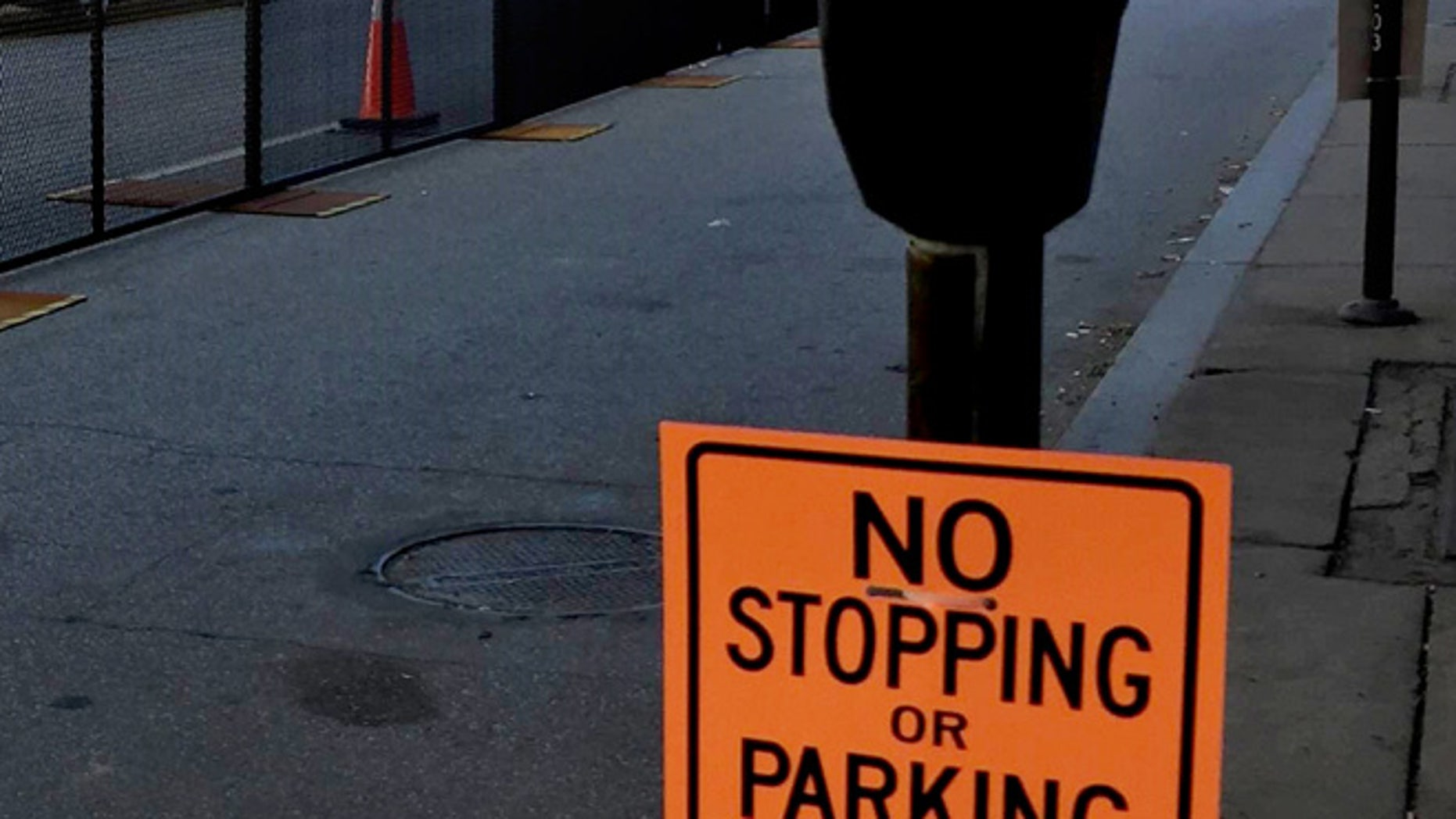 Friday, July 15, 2016: Parking restrictions, security perimeters in downtown Cleveland, ahead of Monday's Republican National Convention. (AP)