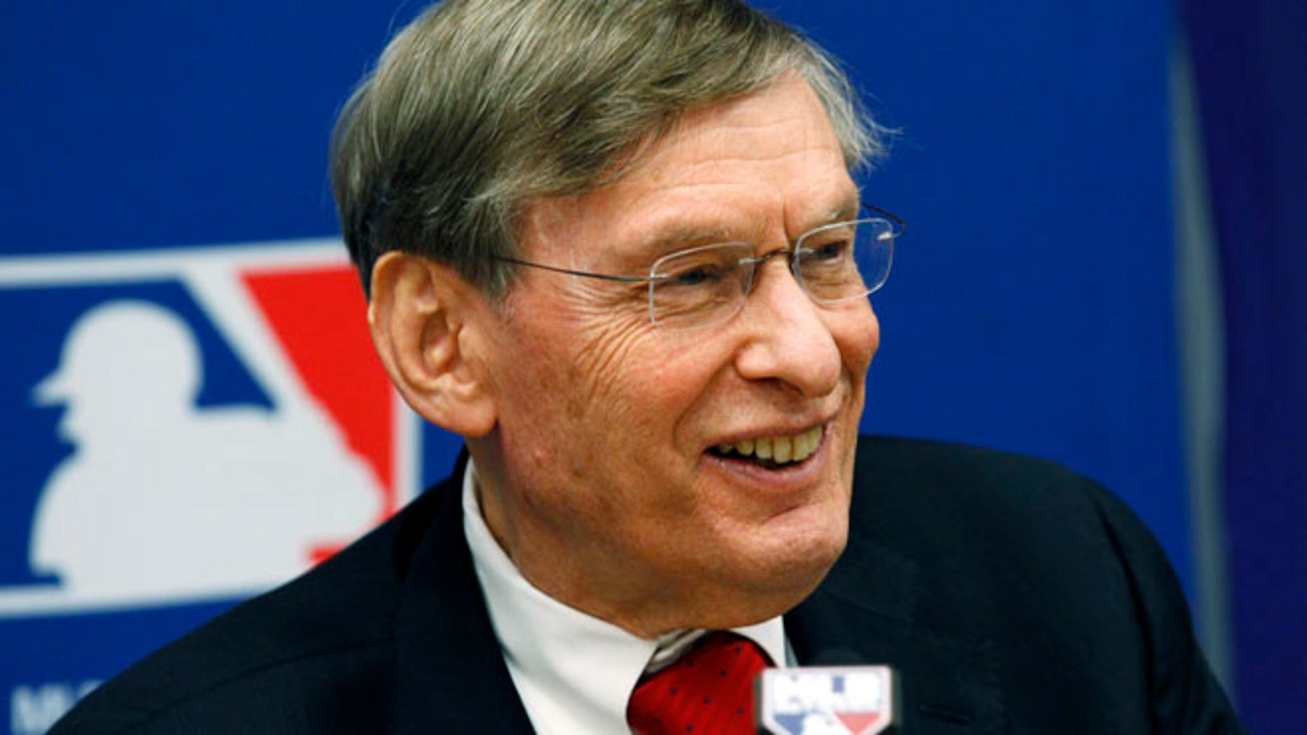 FILE 2011: Major League Baseball Commissioner Bud Selig speaks at a news conference in New York.