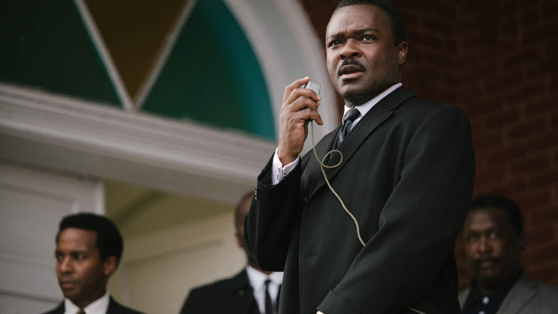 """In this image released by Paramount Pictures, David Oyelowo portrays Dr. Martin Luther King, Jr. in a scene from """"Selma,"""" a film based on the slain civil rights leader."""