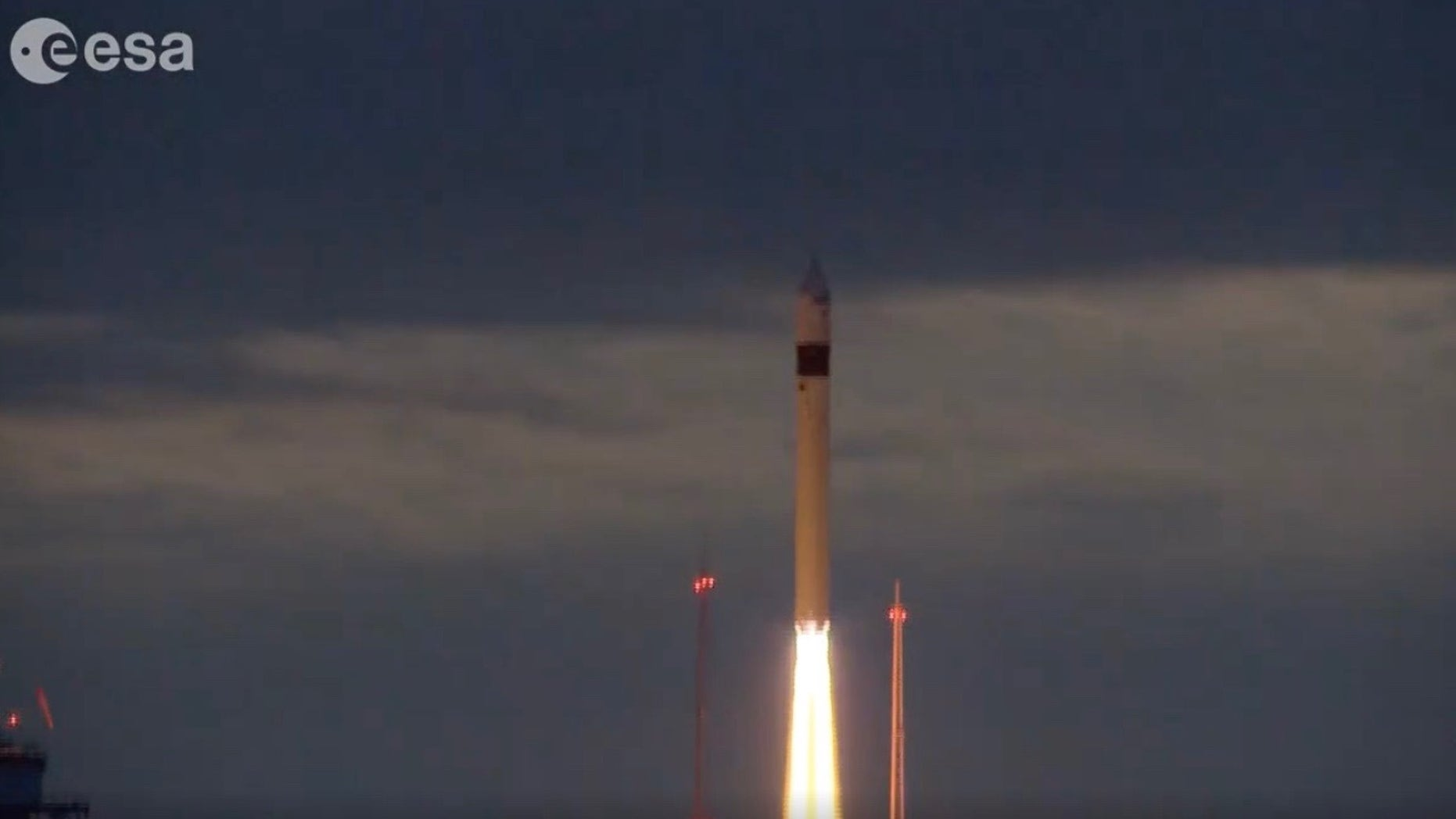 Europe's Sentinel-3B Earth-observation satellite launches atop a Rockot rocket from Plesetsk Cosmodrome in Russia on April 25, 2018.