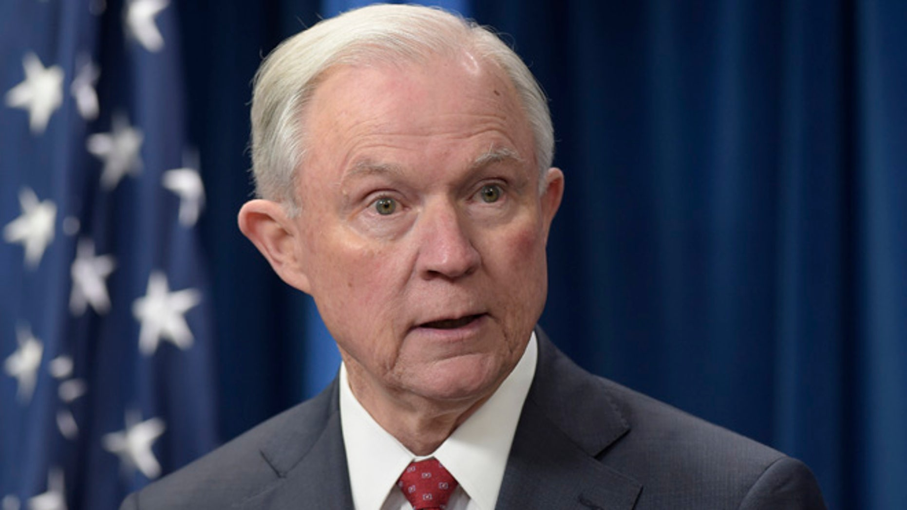 March 6, 2017: Attorney General Jeff Sessions speaks in Washington D.C.