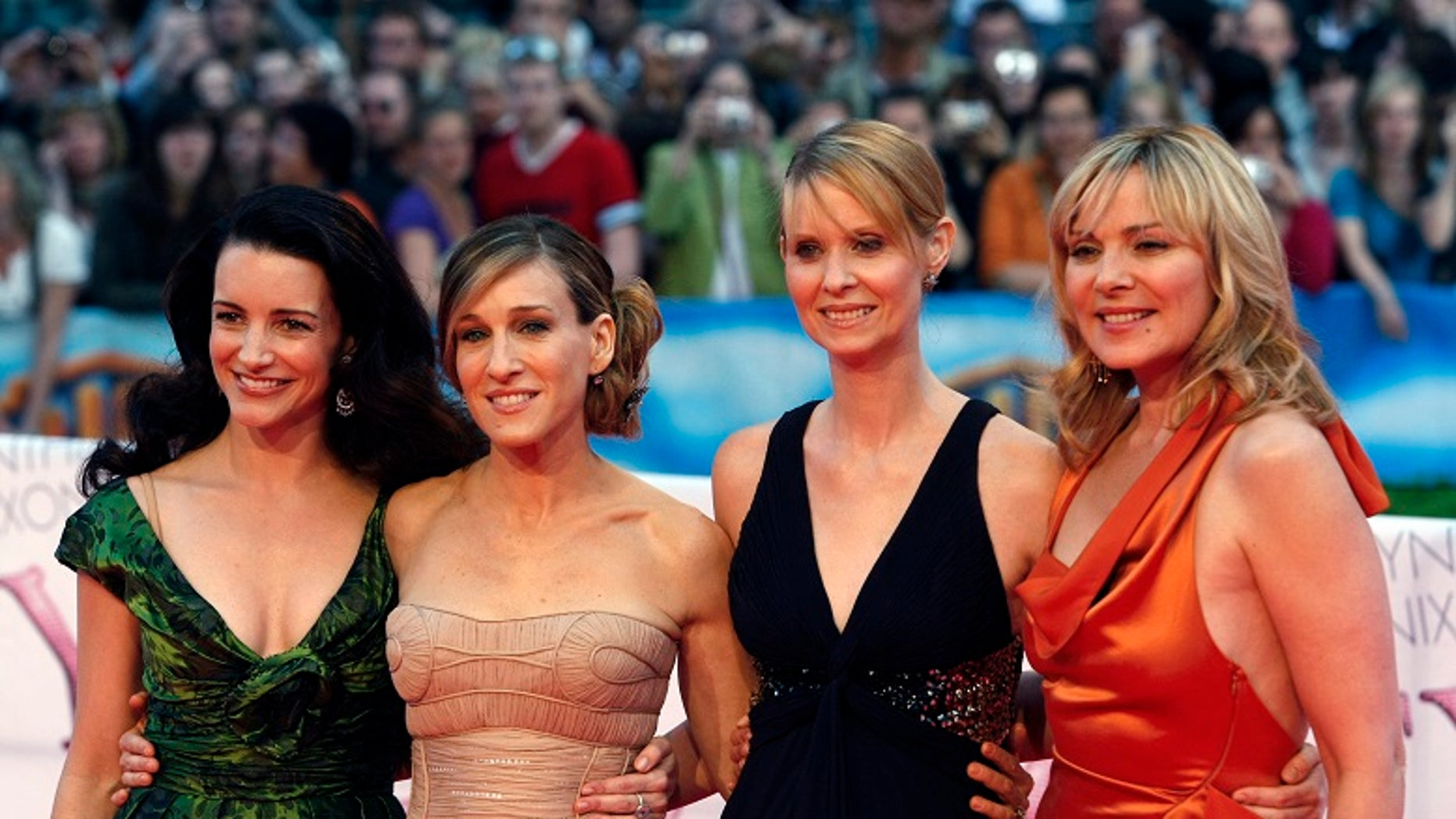 """Sex and the City"" co-stars from l-r: Kristin Davis, Sarah Jessica Parker, Cynthia Nixon and Kim Cattrall."