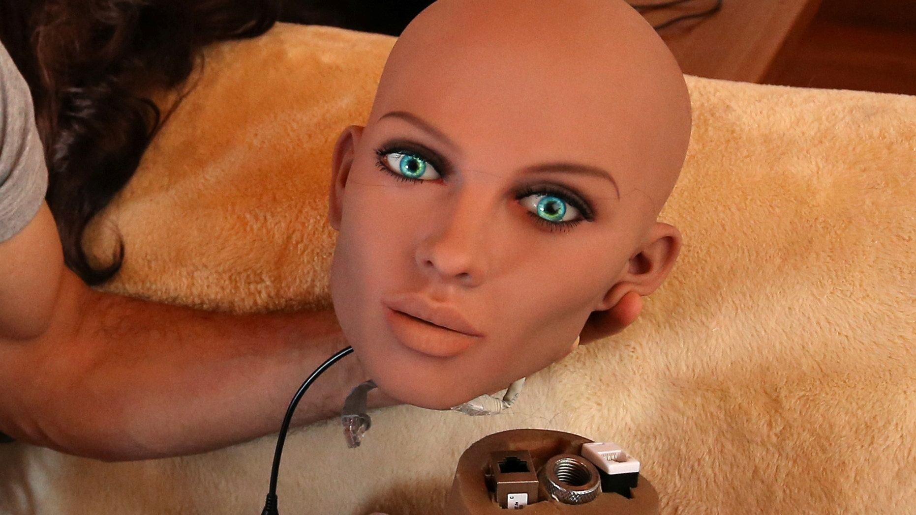 File photo: Catalan nanotechnology engineer Sergi Santos holds the head of Samantha, a sex doll packed with artificial intelligence providing her the capability to respond to different scenarios and verbal stimulus, in his house in Rubi, north of Barcelona, Spain, March 31, 2017. Picture taken March 31, 2017. (REUTERS/Albert Gea)