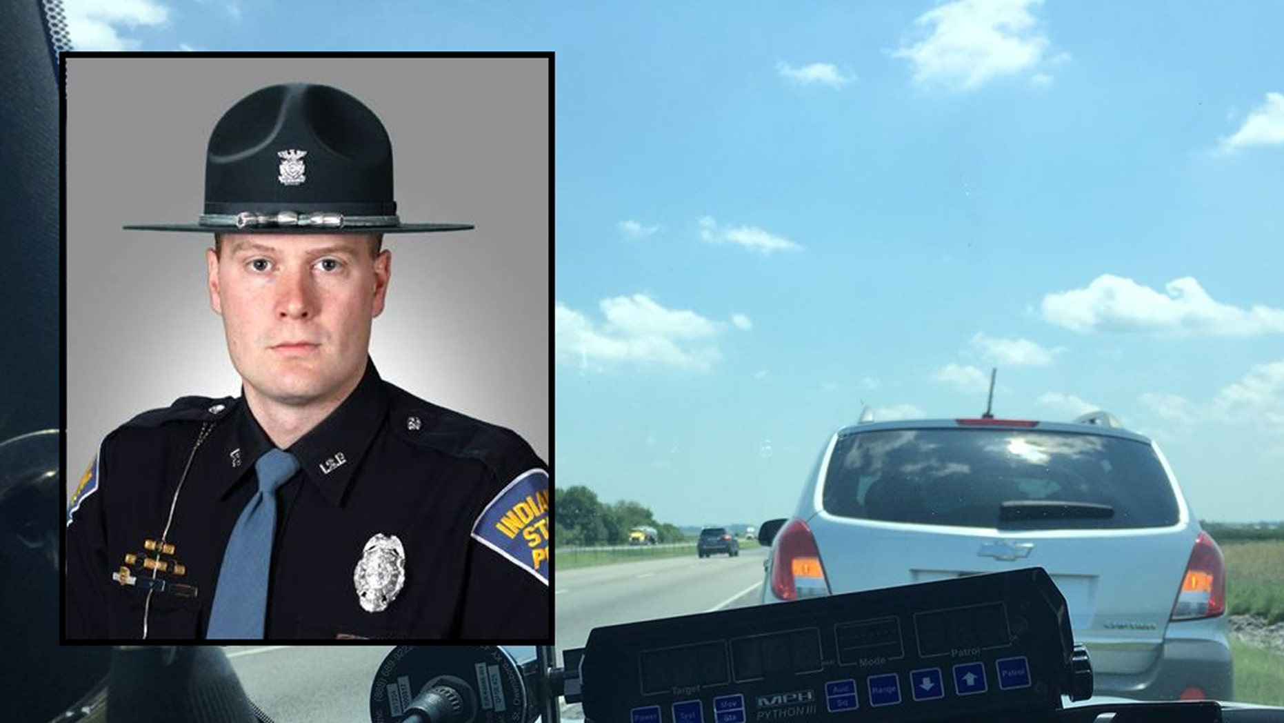Indiana State Trooper, Sgt. Stephen Wheeles, went viral after he tweeted a photo of a car he pulled over for driving too slow in the left lane on the highway.