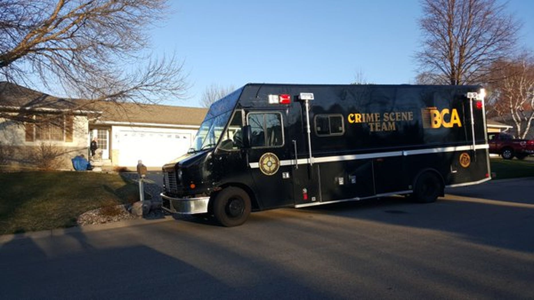 The home where the Minnesota couple was found dead.