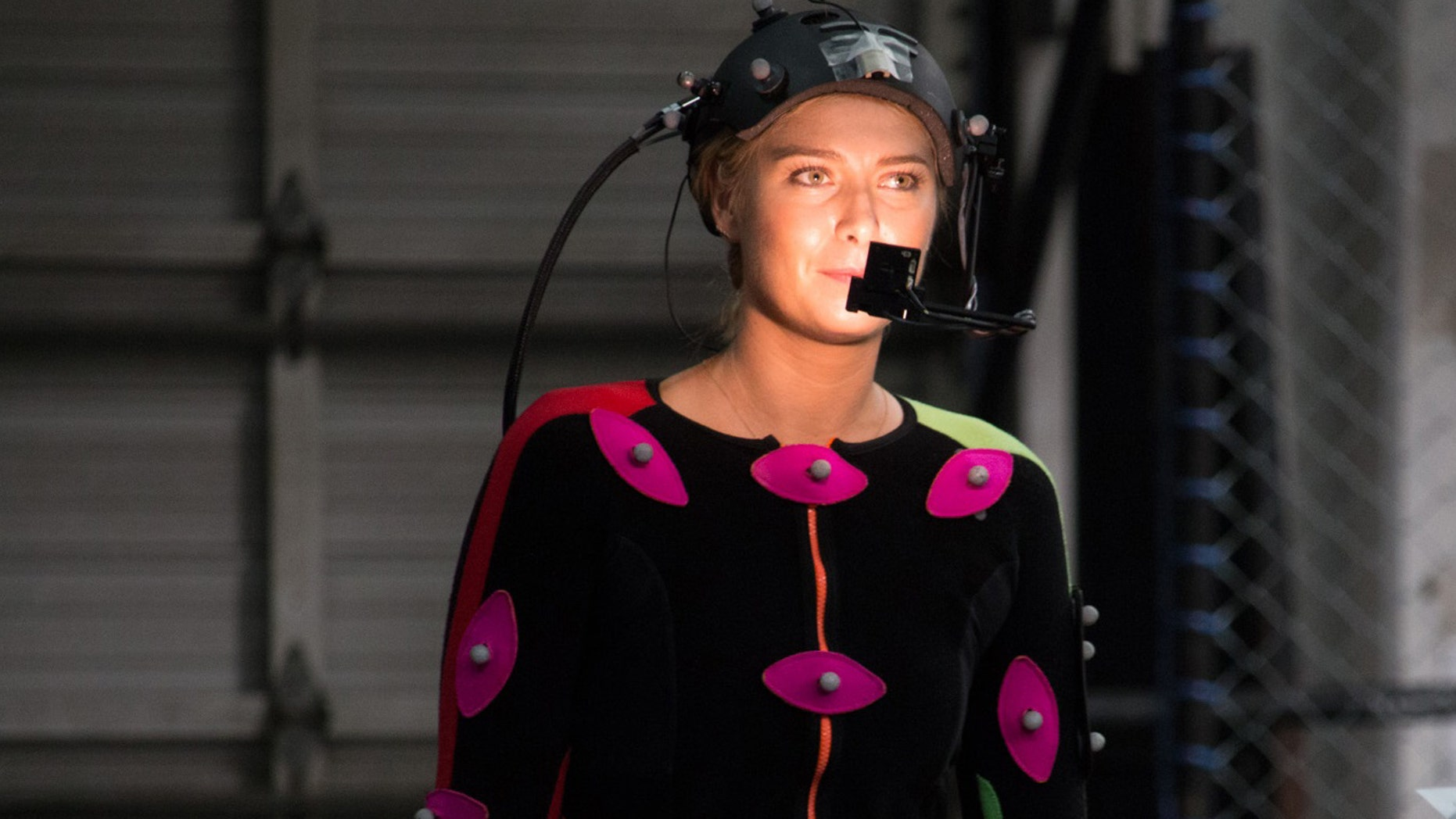 "Tennis Professional Maria Sharapova On-Set at the American Express ""You Vs. Sharapova"" and ""Vs. on the River"" Virtual Reality Shoot in Los Angeles, CA"