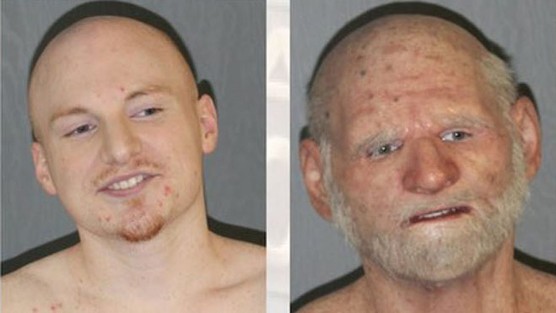 """Police say they found fugitive Shaun Miller, 31, at a Massachusetts home disguised as an """"elderly man."""" (ATF)"""