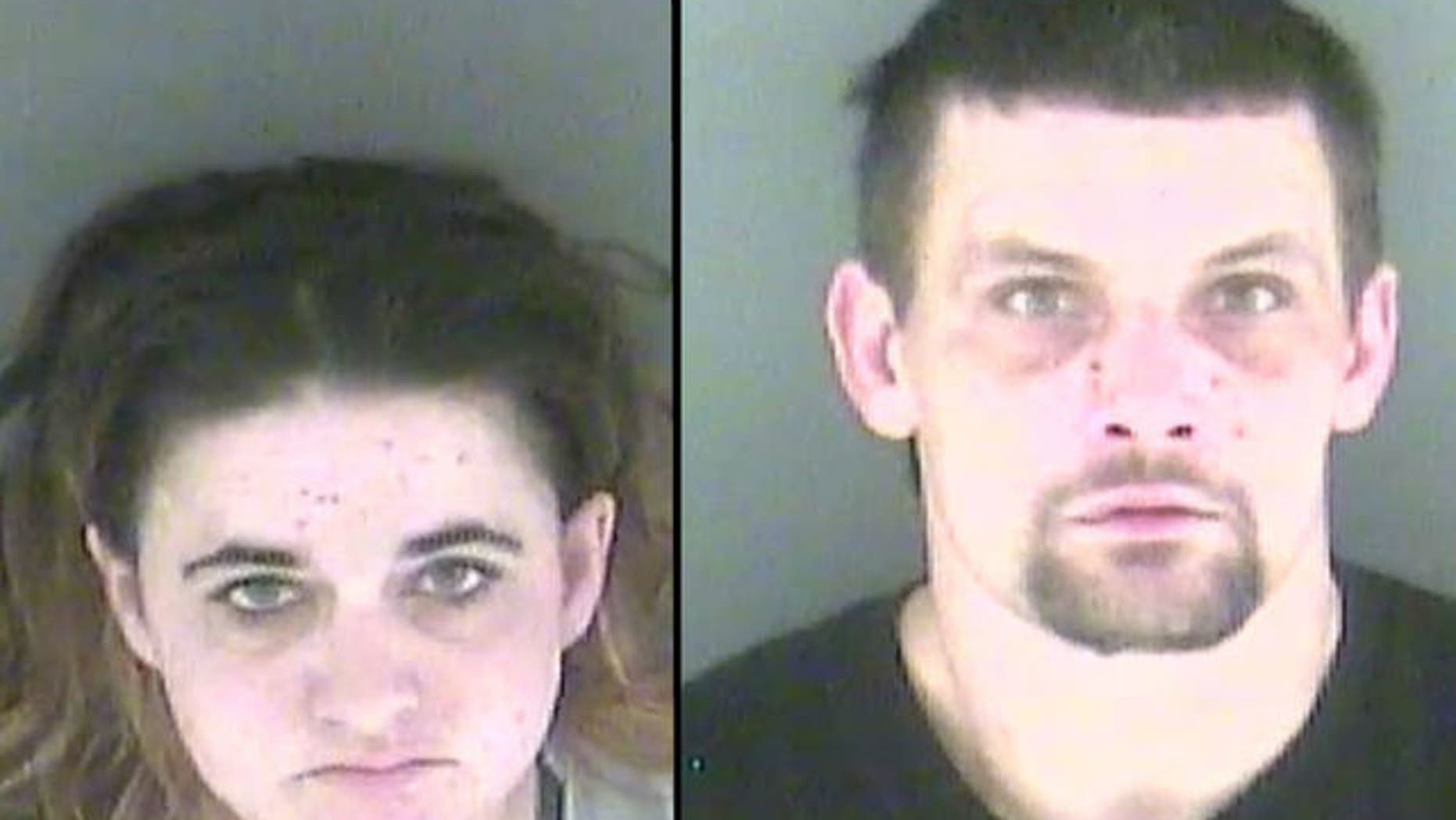 Sasha Fletcher, 31, and her boyfriend, Joshua Parson, 34, were arrested and accused of using heroin while on the job.