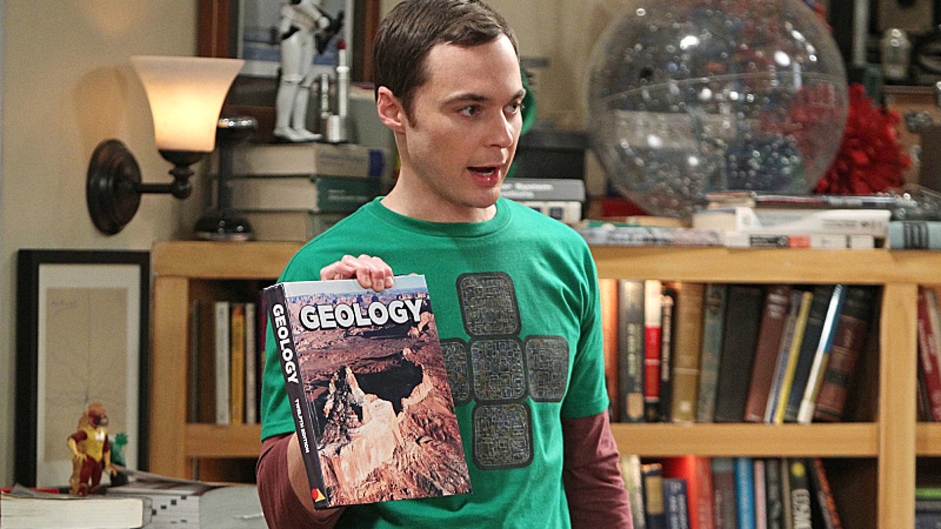 "Jim Parsons on the CBS Television Network's ""The Big Bang Theory."""