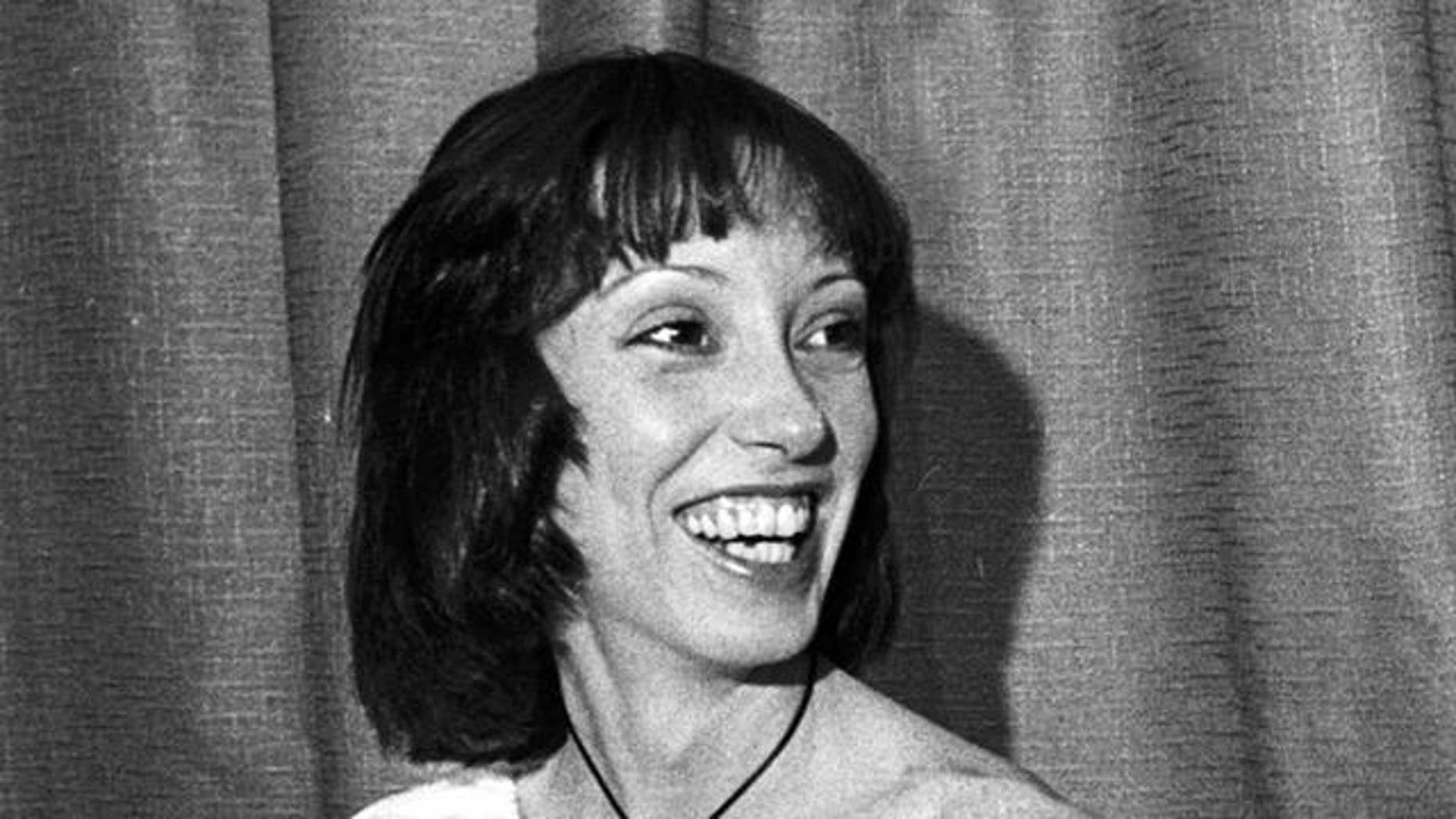 Actress Shelley Duvall is seen in Cannes, France, in May 1977.