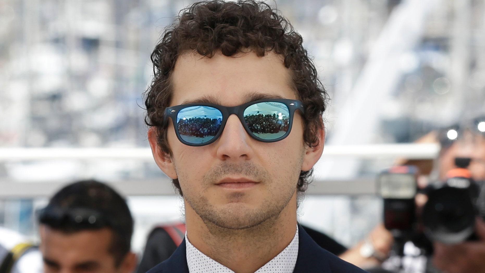 Shia Labeouf at the Cannes Film Festival