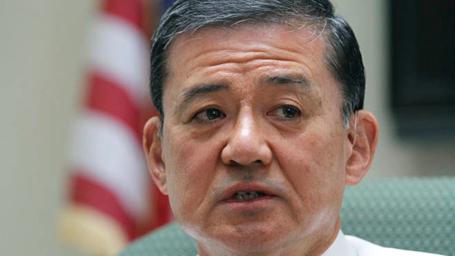 April 12, 2012: Veterans Affairs Secretary Eric Shinseki makes remarks during a visit to a medical center in Coatesville, Pa.