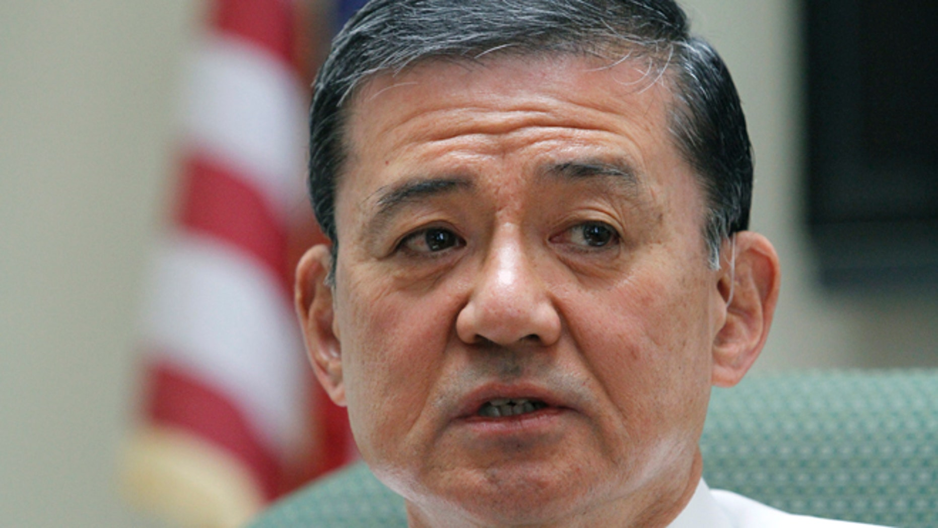 In this April 12, 2012 file photo, Veterans Affairs Secretary Eric Shinseki makes remarks during a visit to a medical center in Coatesville, Pa.