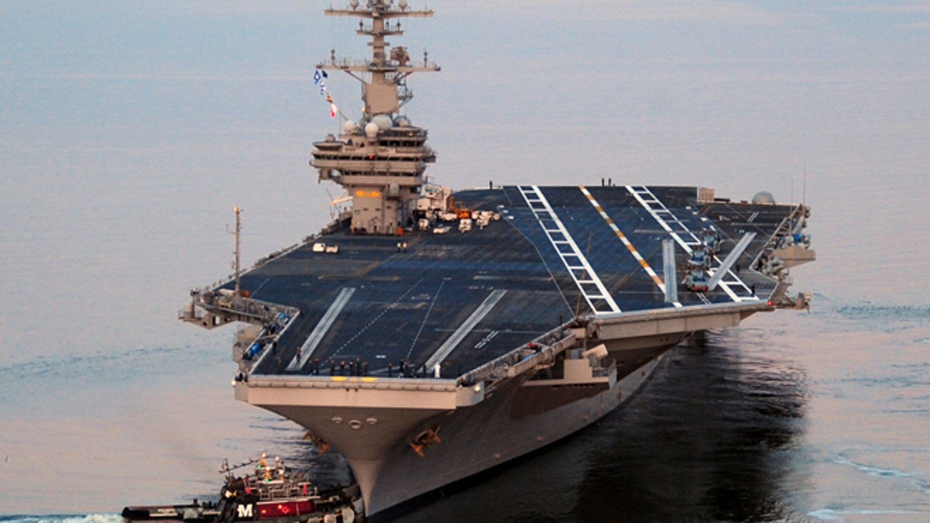 Secretary of Defense Chuck Hagel ordered the carrier to be moved Saturday from the North Arabian Sea to the Arabian Gulf and are expected to arrive sometime this evening.