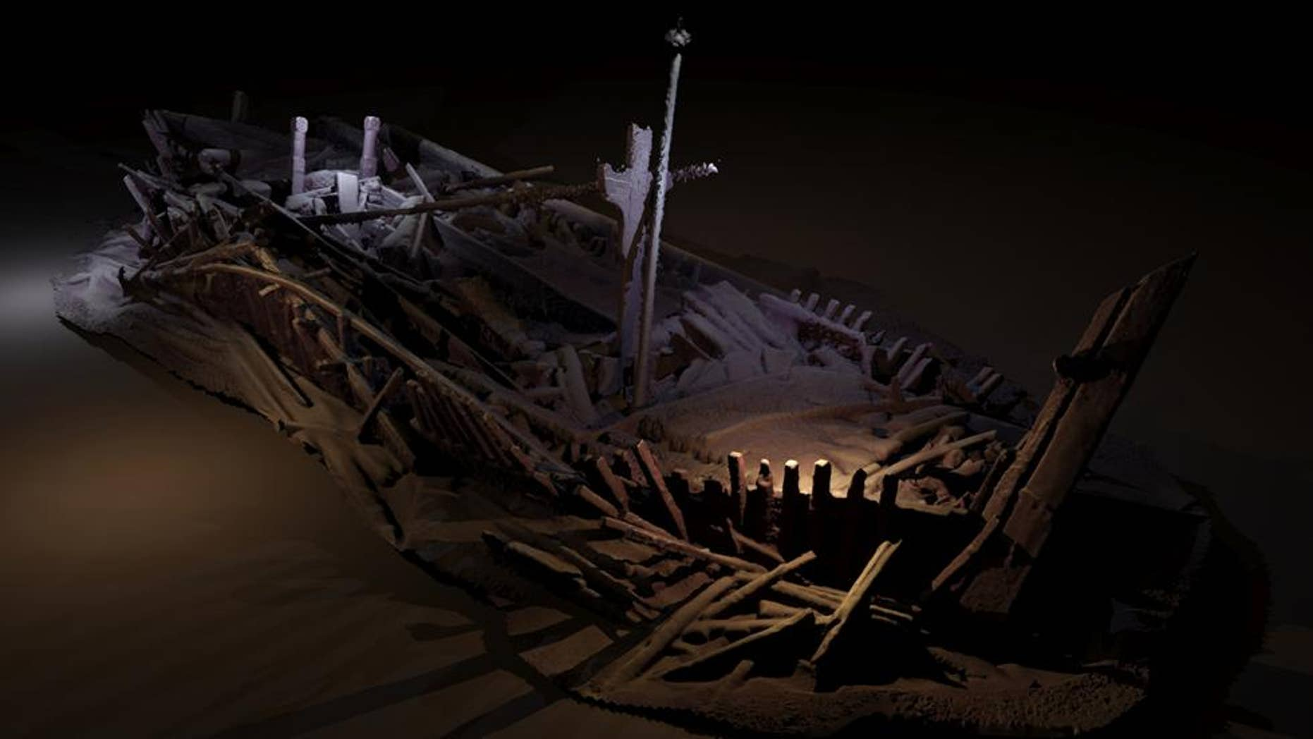 Photogrammetric model of a wreck from Ottoman period. (Credit: Rodrigo Pacheco-Ruiz/University of Southampton)