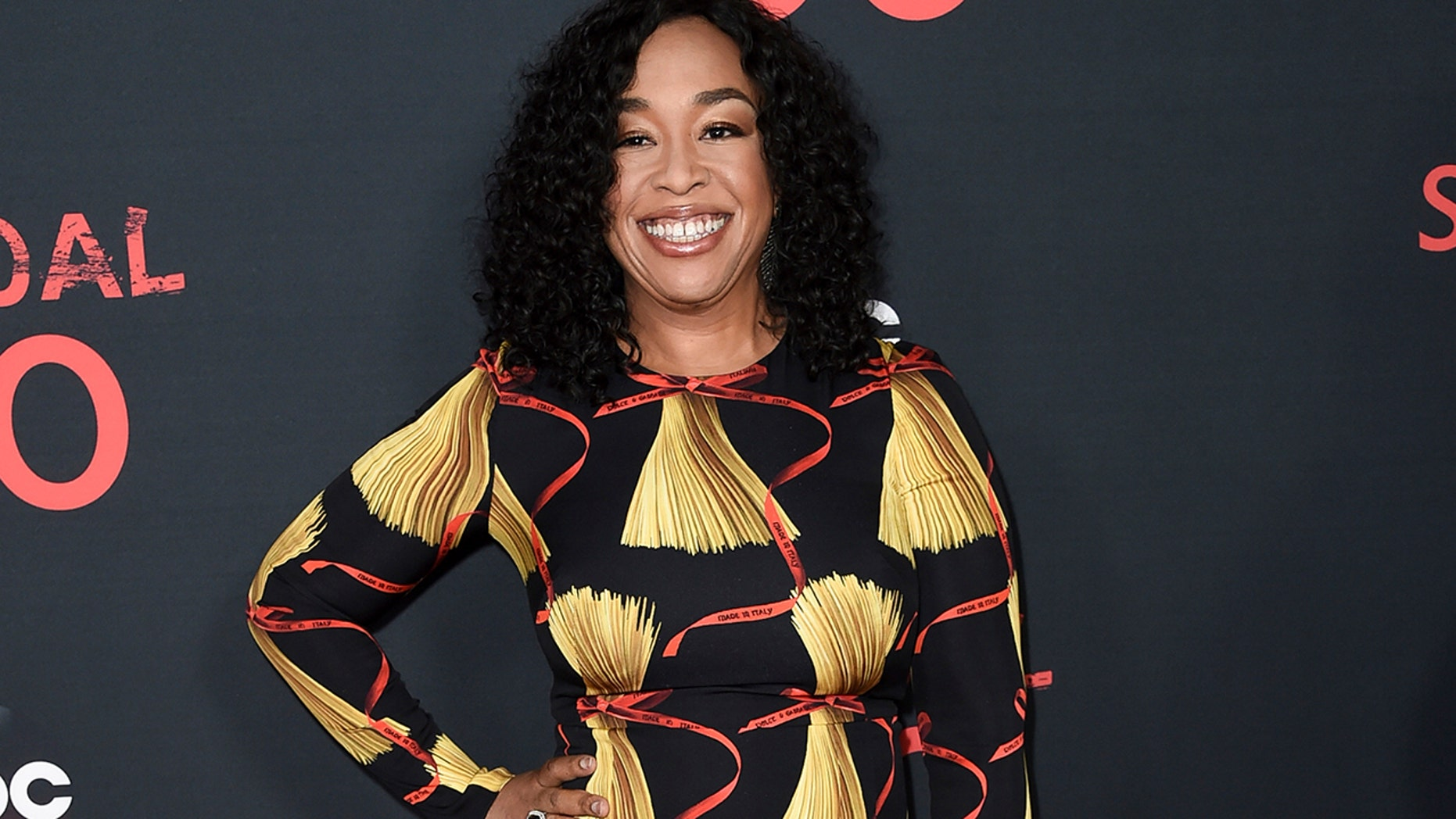 """In this April 8, 2017, file photo, Shonda Rhimes attends the """"Scandal"""" 100th Episode Celebration at Fig & Olive in West Hollywood, Calif. Netflix announced late Sunday, Aug. 13, that Rhimes and her company Shondaland had agreed to produce new series and context for the streaming service."""