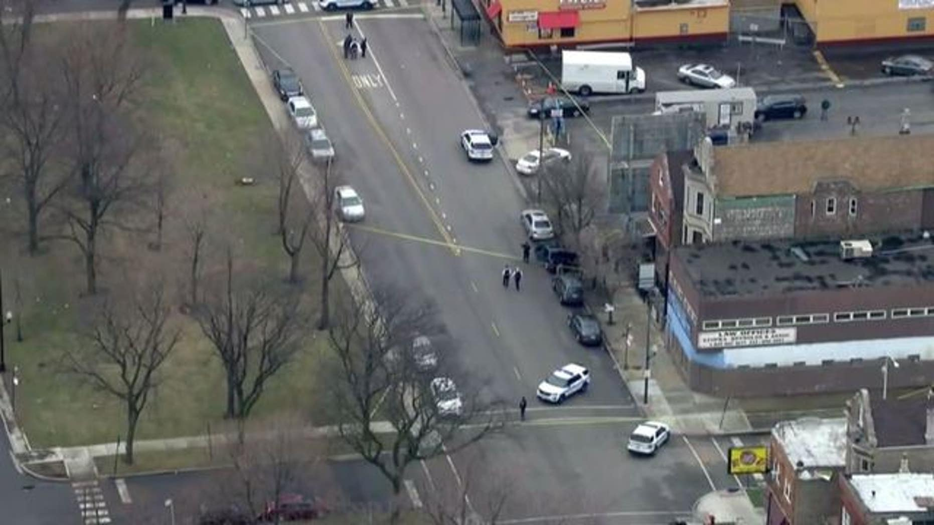 The shooting scene in Chicago.