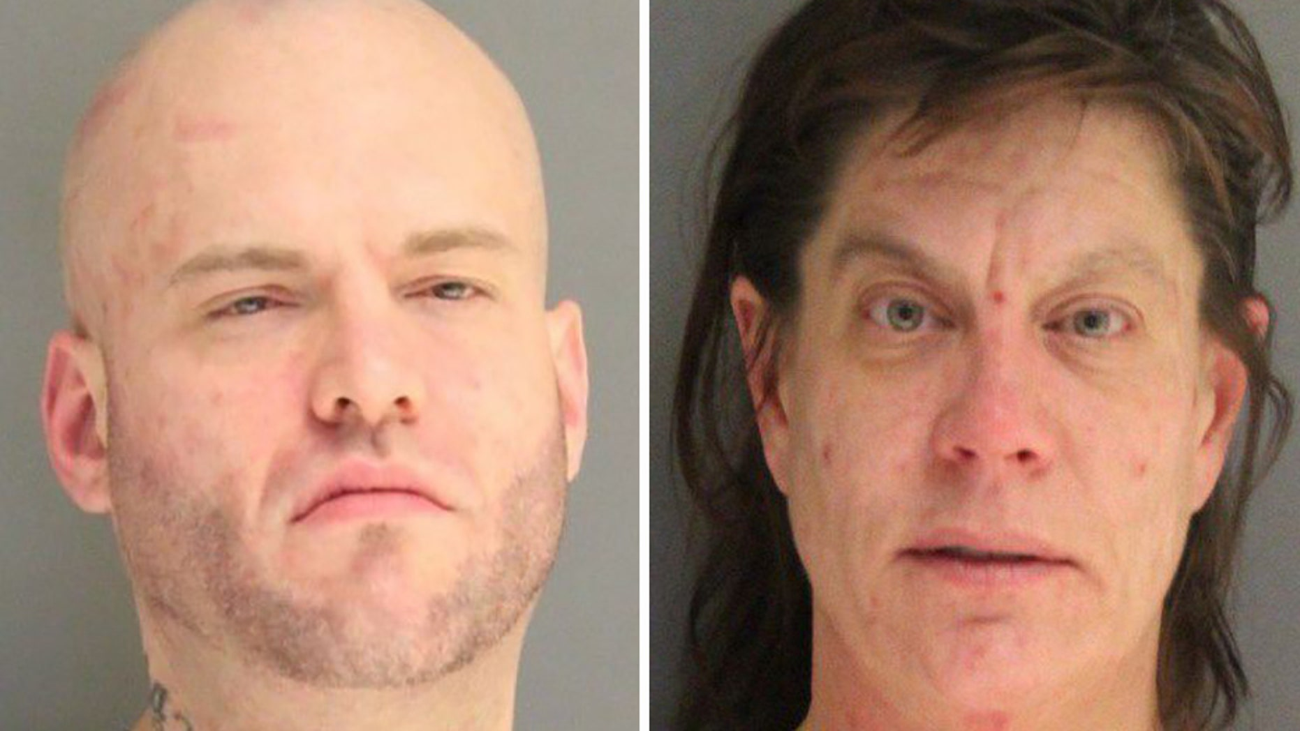Christopher McDowell, 34, and April Wright, 48, accidentally turned themselves in after walking into police headquarters.