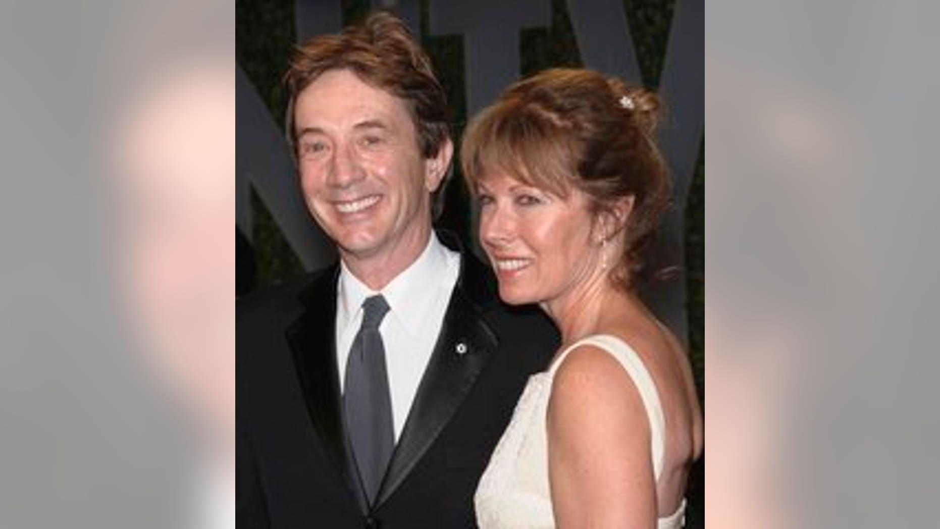 Martin Short and his wife Nancy Dolman. (AP)