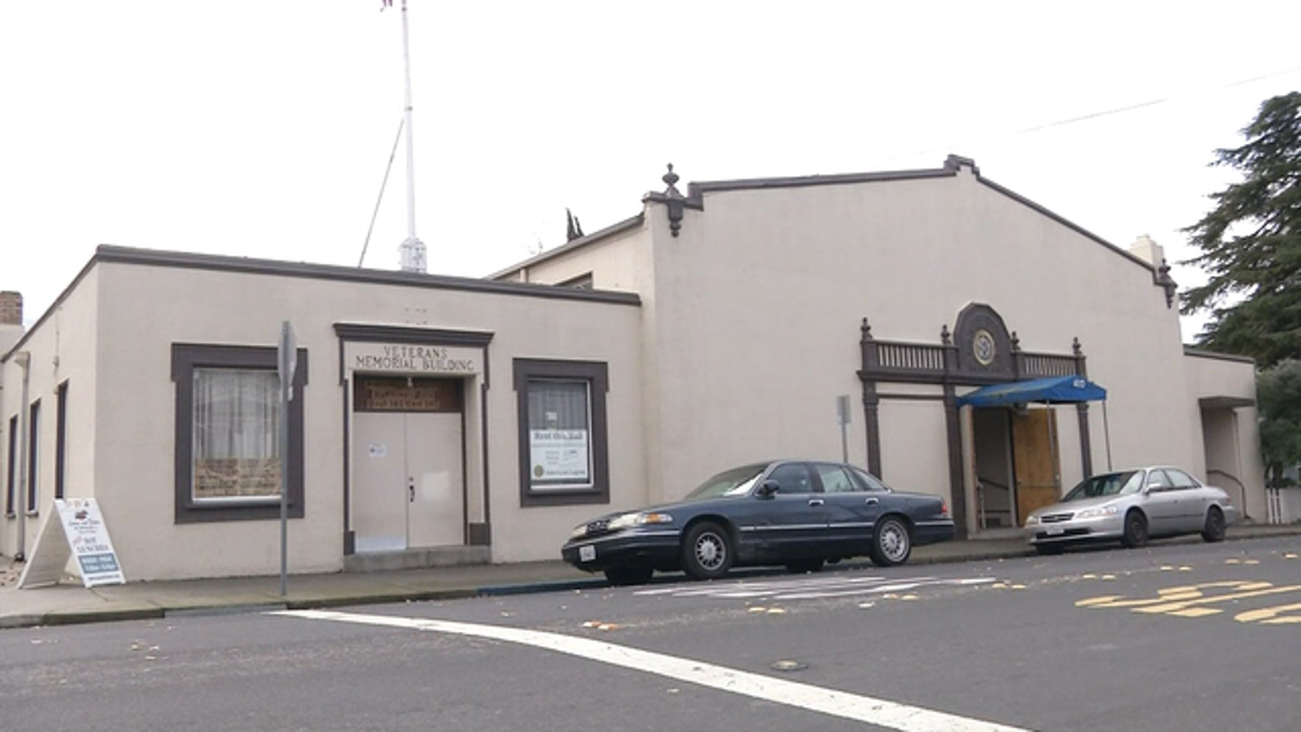 This undated photo shows an American Legion hall in Antioch, Calif. Three people died and five others were sickened after eating a Thanksgiving dinner served here by a local church.
