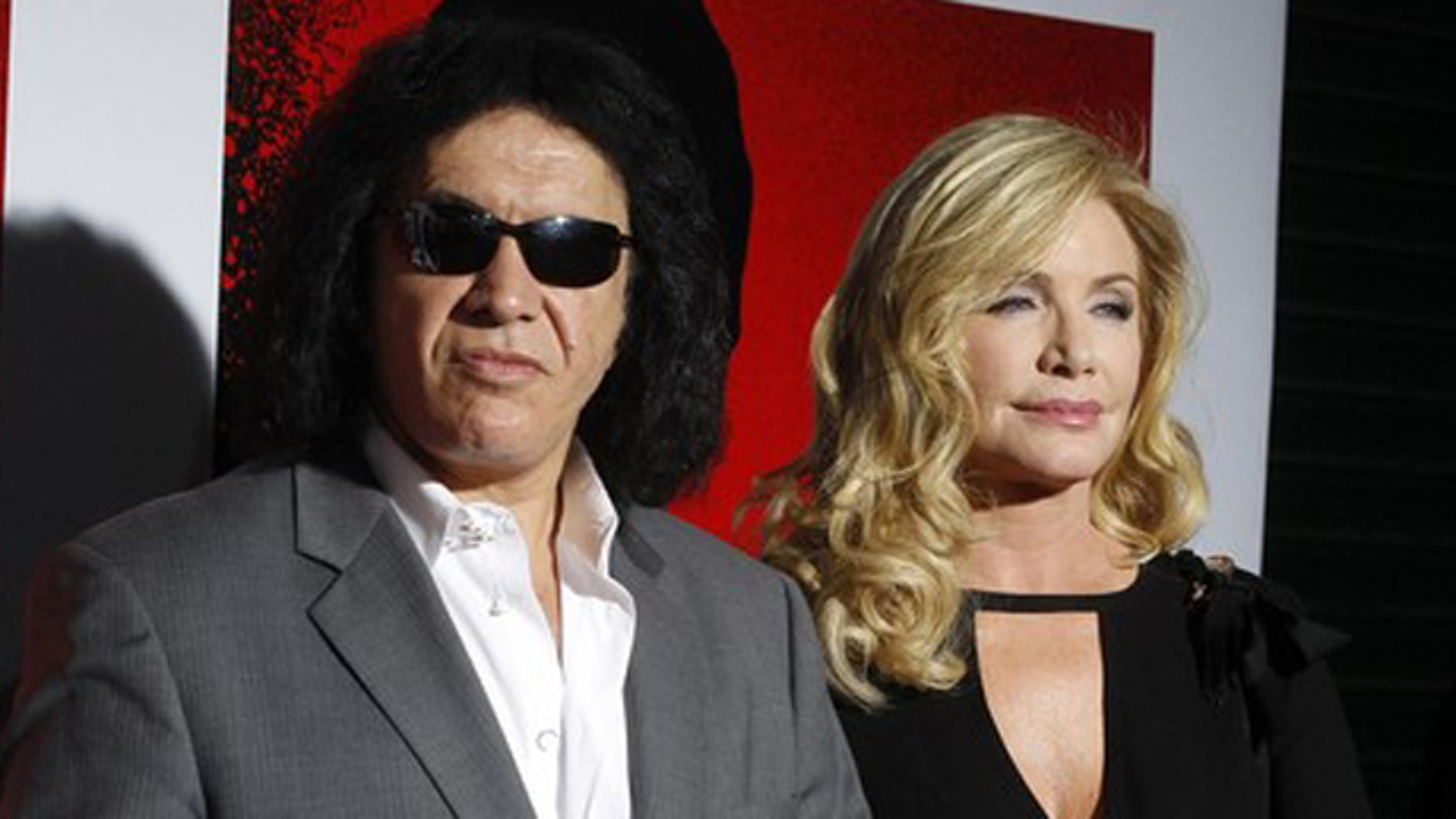 """Aug. 23: Gene Simmons of the band Kiss and actress Shannon Tweed arrive at the Blu-ray disc launch party for the 1983 classic film """"Scarface"""" in Los Angeles, California."""