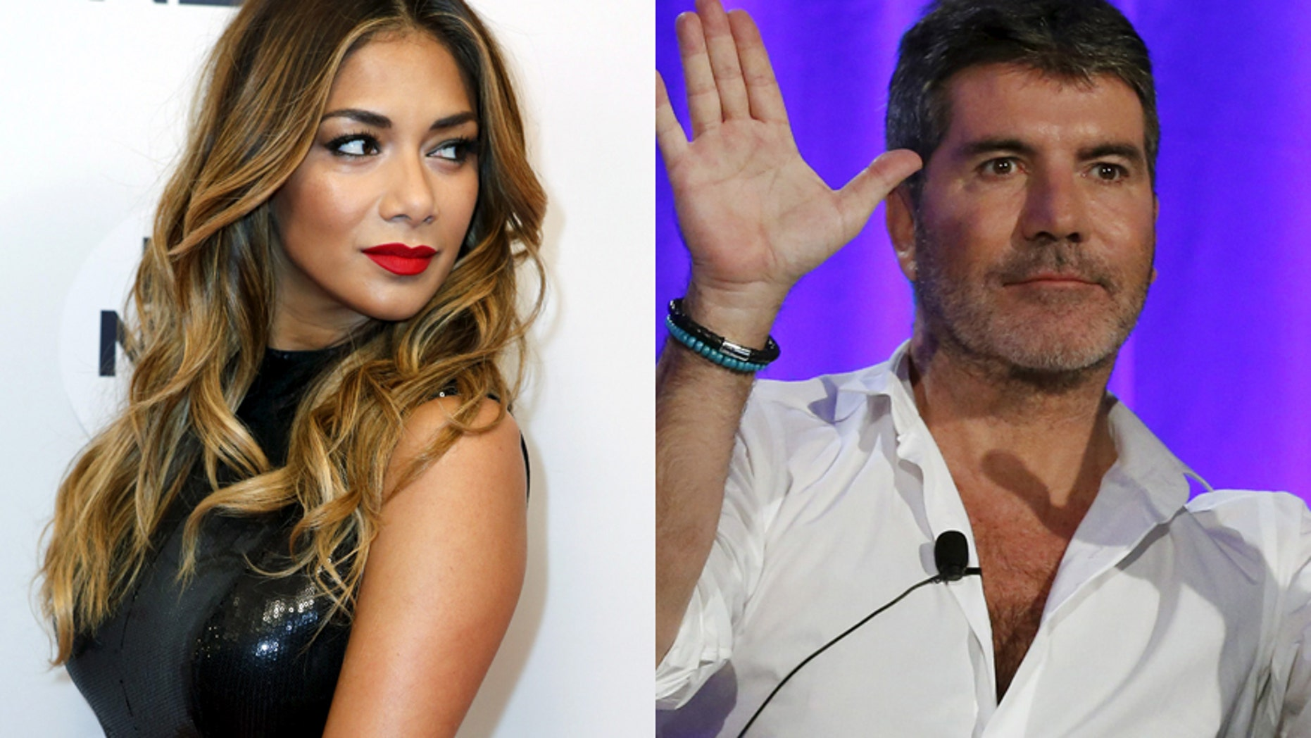 Nicole Scherzinger (left) and Simon Cowell.