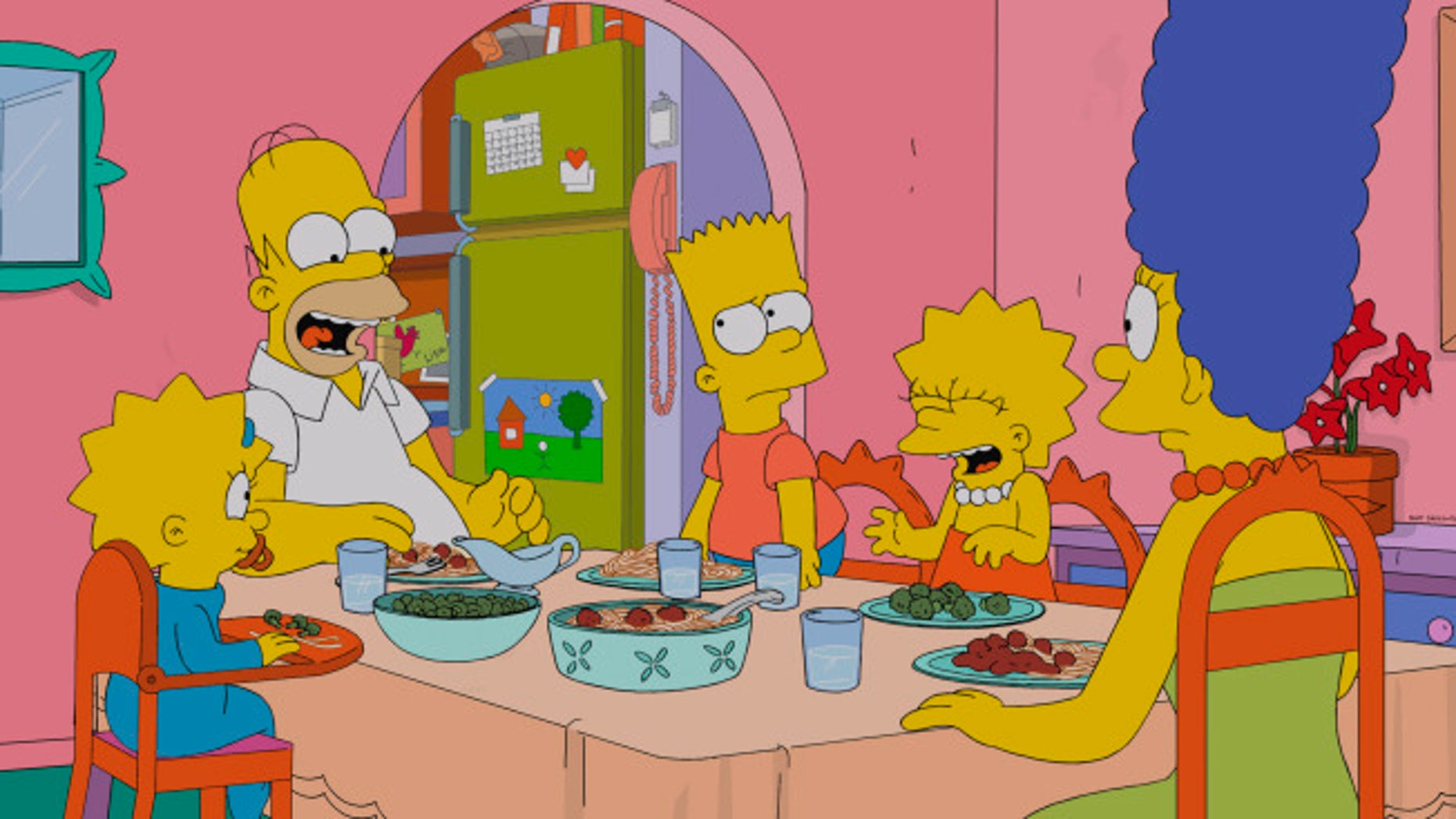 "Scene from ""The Simpsons."""