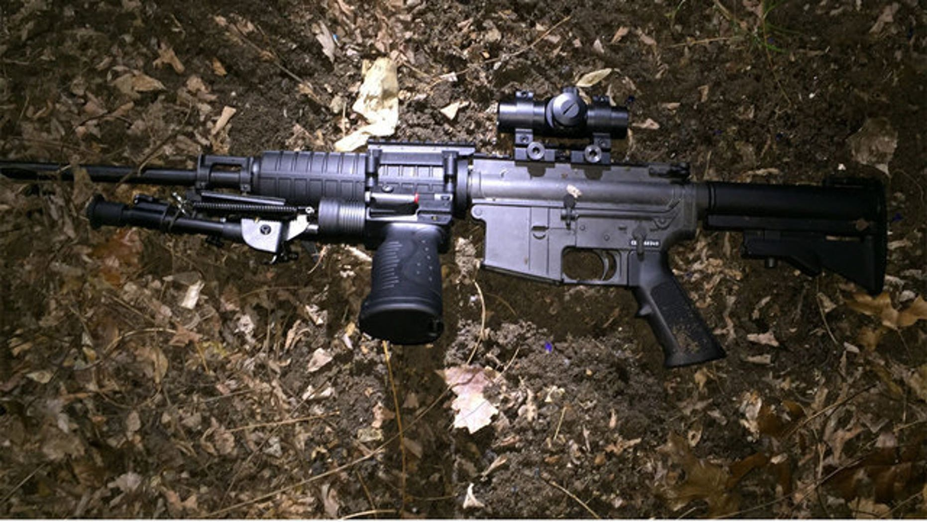 A gun recovered after the shooting.