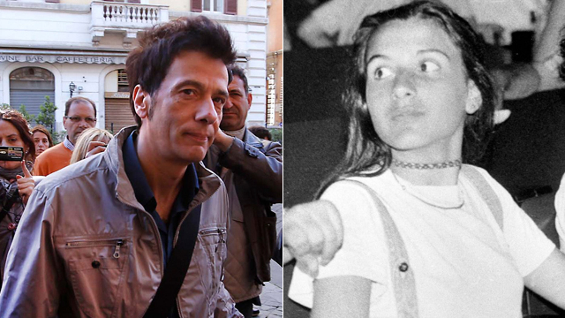 May 14: Pietro Orlandi, brother of missing girl Emanuela, arrives at Sant' Apollinare Basilica, in Rome.