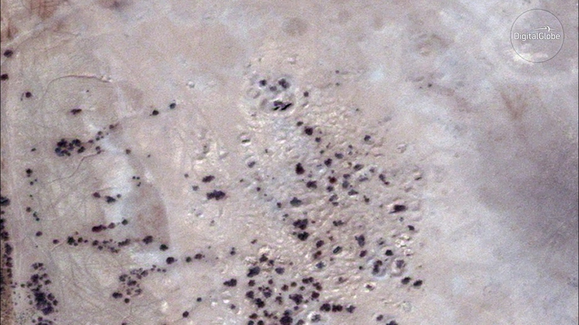 "A satellite image, captured on Sept. 14, 2017, shows ""site 1056,"" which might be the ancient city of Irisagrig."