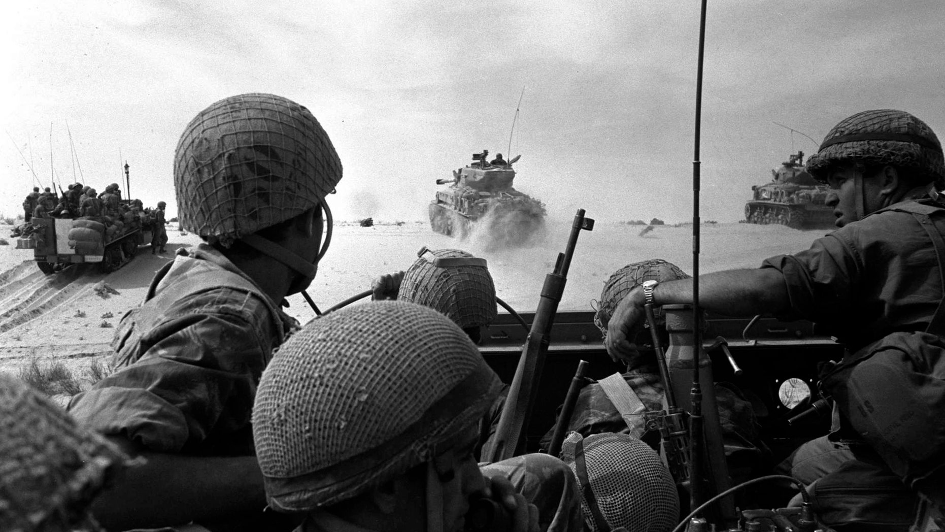 The 1967 Middle East War, widely known as the Six Day War, in this handout photo.