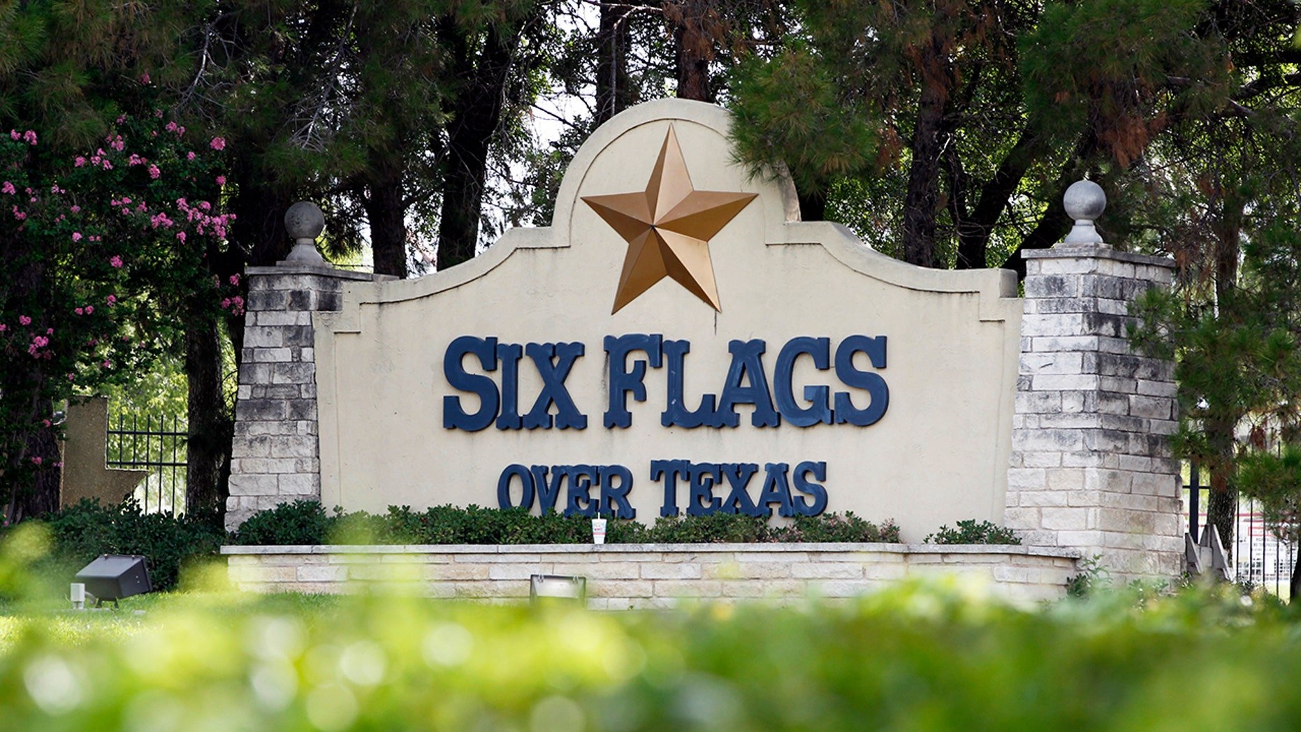 The Six Flags Over Texas theme park continues to fly a Confederate flag over their entrance