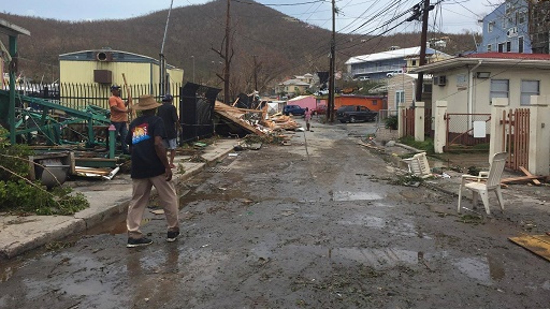 Acacia Wallenburg, a resident on Saint John Island, part of the U.S. Virgins Islands, took pictures of the damage from Hurricane Irma.