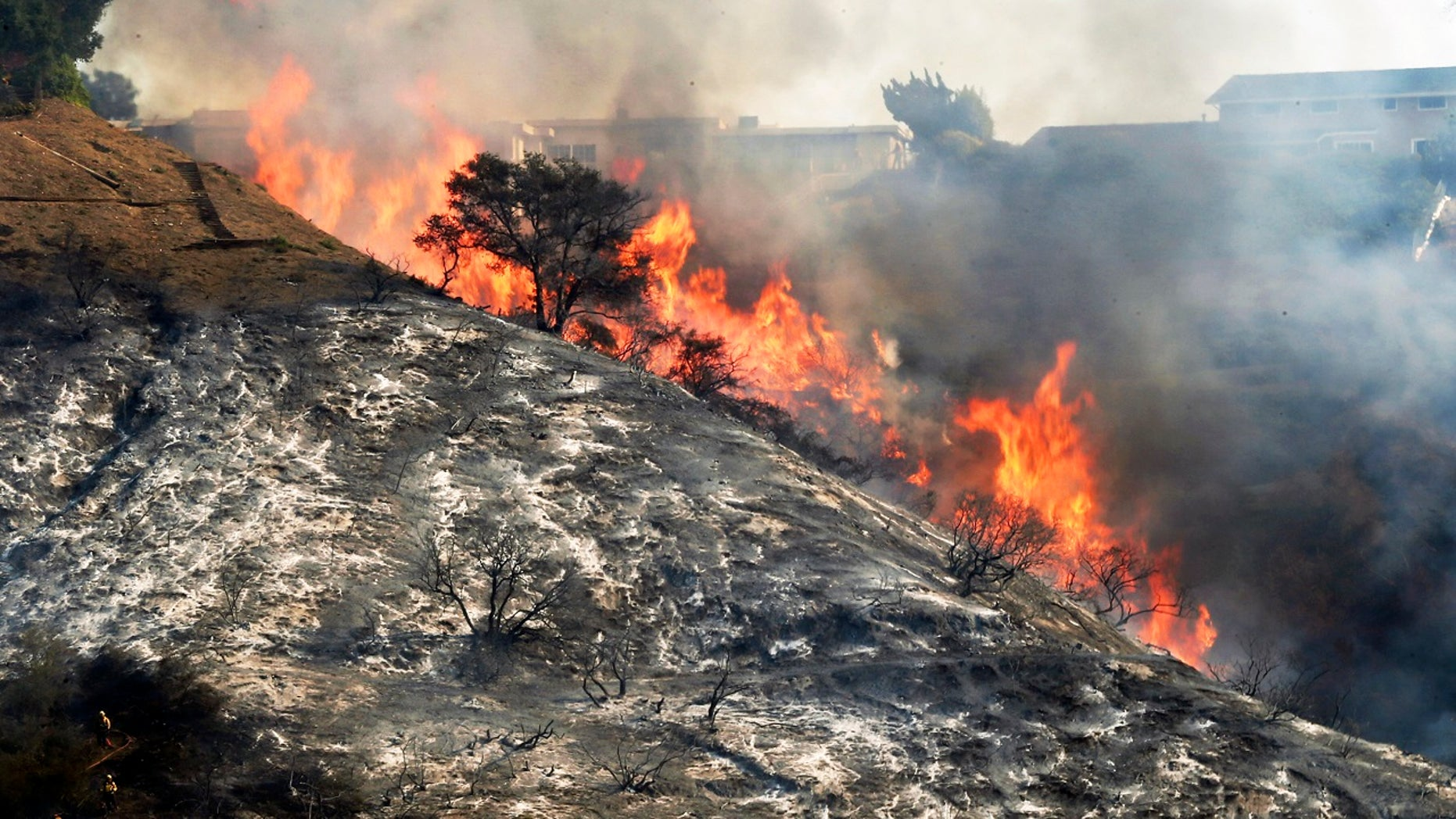 The Skirball fire affecting Bel-Air is one of six fires that erupted in Southern California last week.