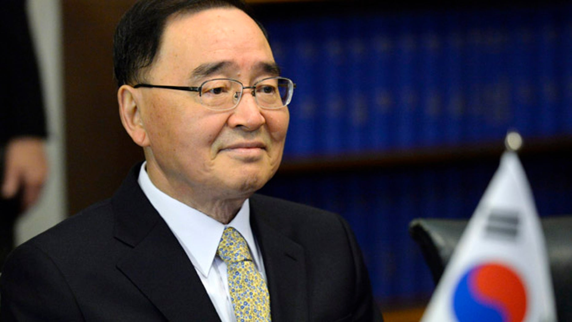 Oct. 24, 2013: South Korean Prime Minister Chung Hong-won attends a meeting at the Finnish Parliament in Helsinki.