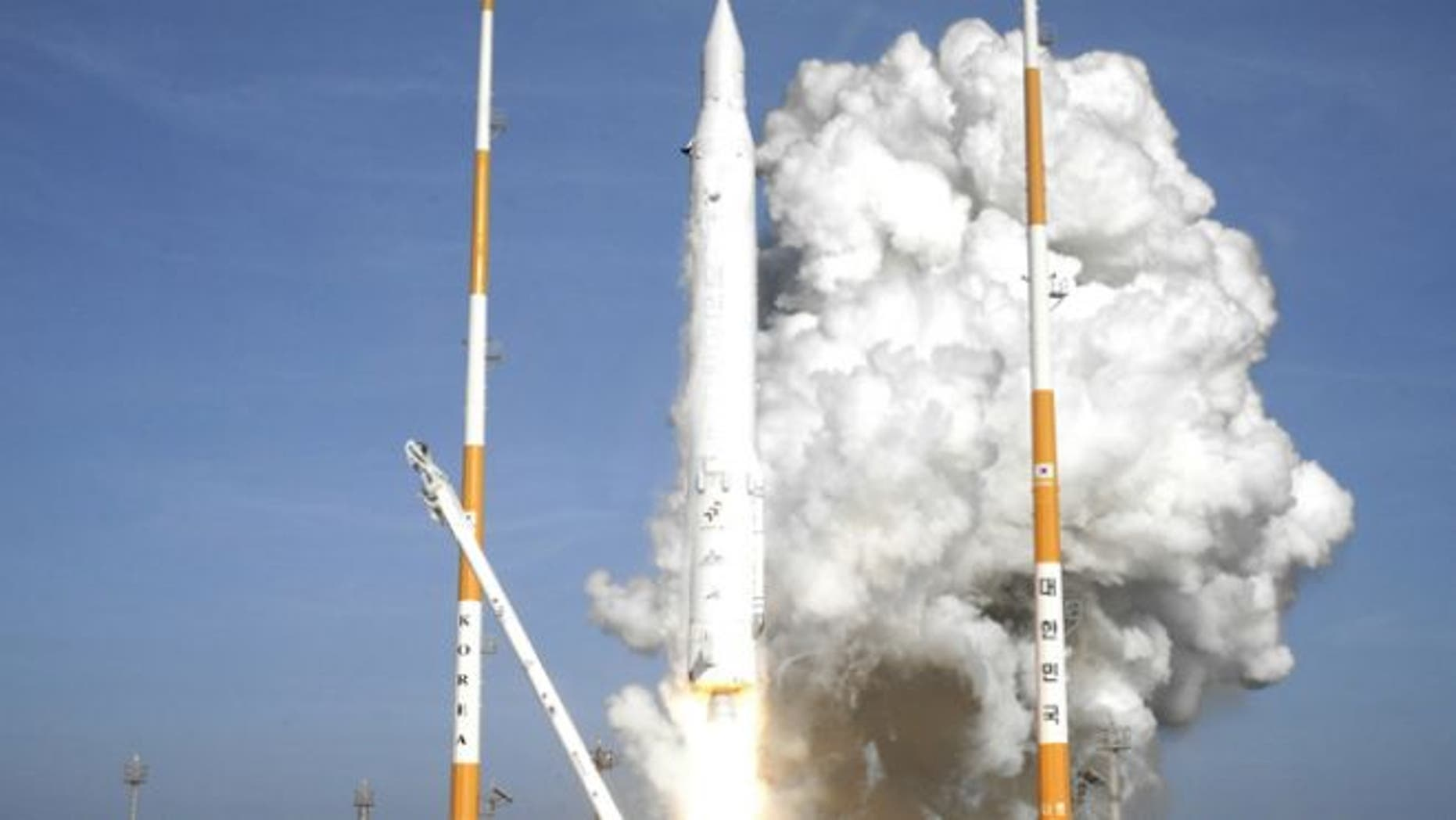 Jan. 30, 2013: South Korea's rocket lifts off from its launch pad at the Naro Space Center in Goheung, South Korea.
