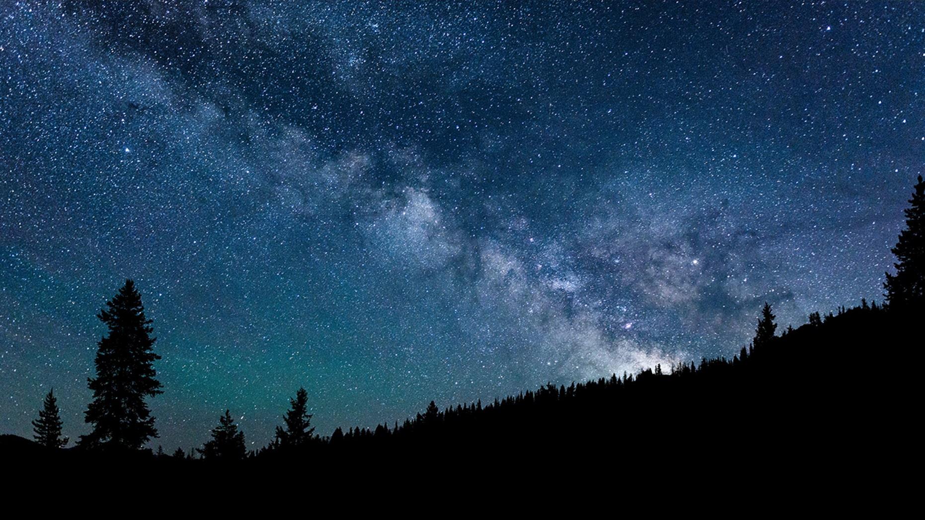 The Milky Way over the Smoky Mountains near Ketchum, Idaho.