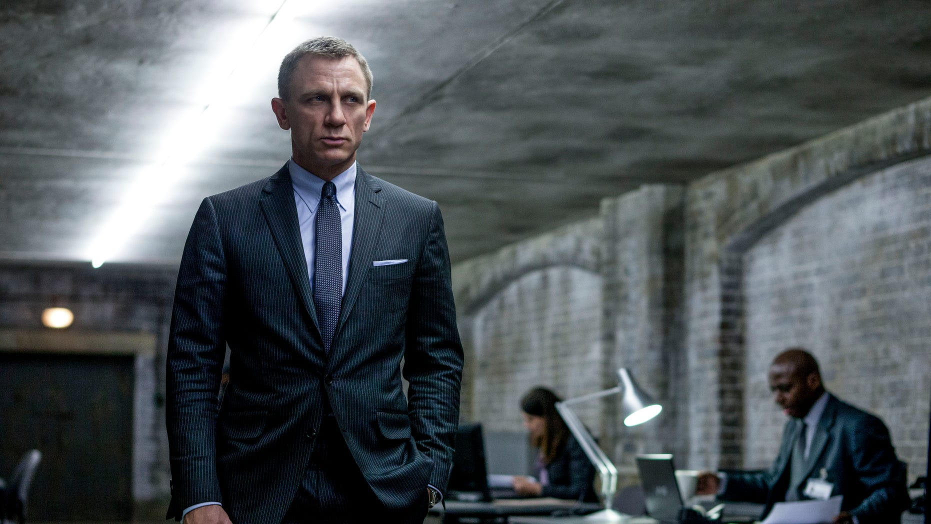 """This film image released by Sony Pictures shows Daniel Craig as James Bond in a scene from the film """"Skyfall."""""""