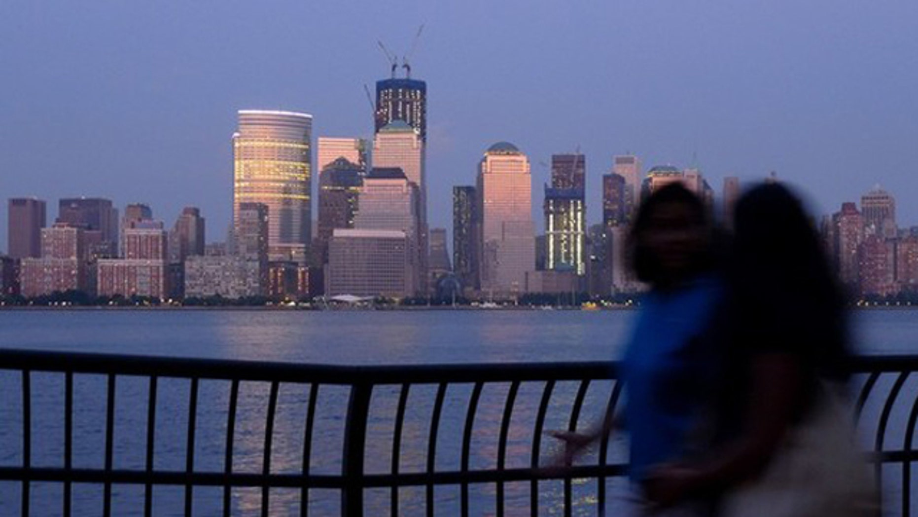 Aug. 20, 2011: The skyline of New York's Lower Manhattan is seen from Jersey City.