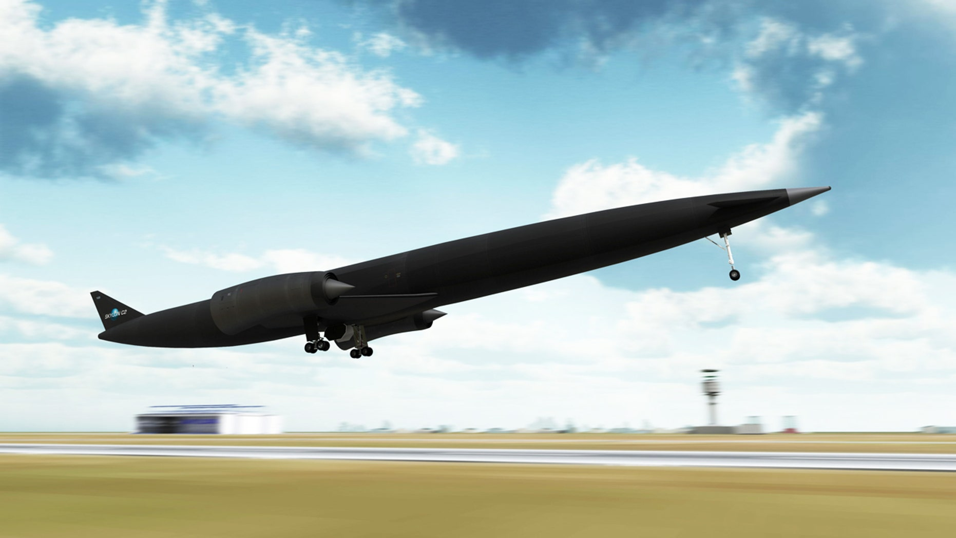 A rendering of the Skylon plane, designed to house the revolutionary new engine.