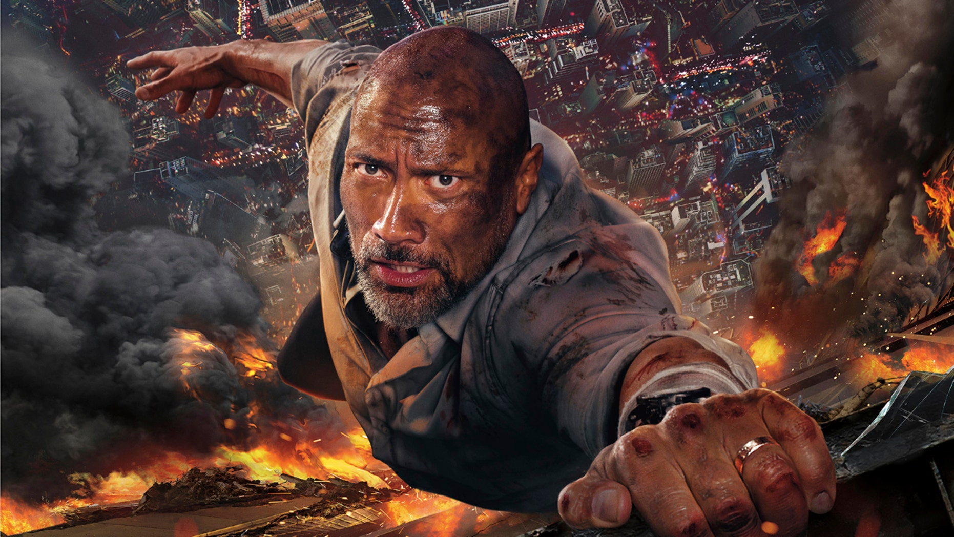 """Dwayne Johnson is slammed by amputee actress Katy Sullivan for taking on the role of an amputee in his new movie """"Skyscraper."""""""