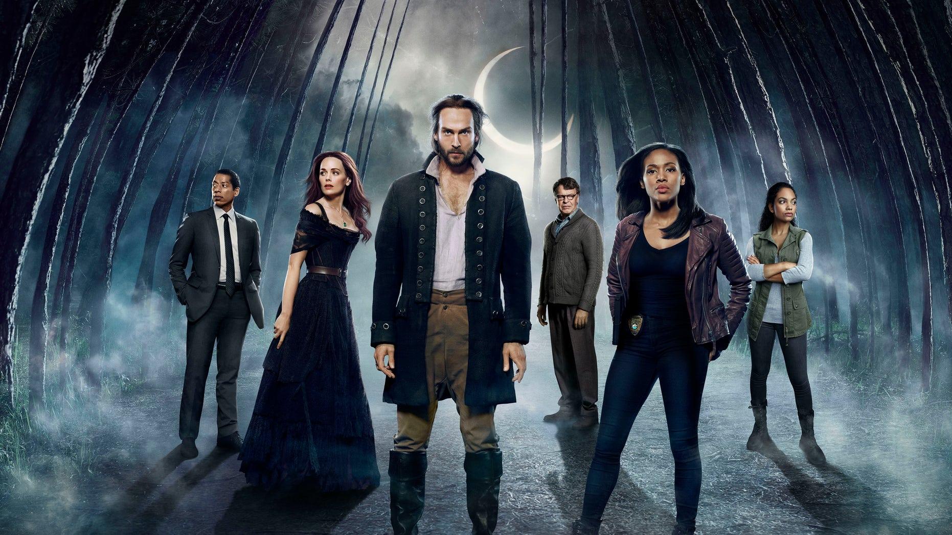 'Sleepy Hollow' cast (L-R): Orlando Jones, Katia Winter, Tom Mison, John Noble, Nicole Beharie and Lyndie Greenwood.